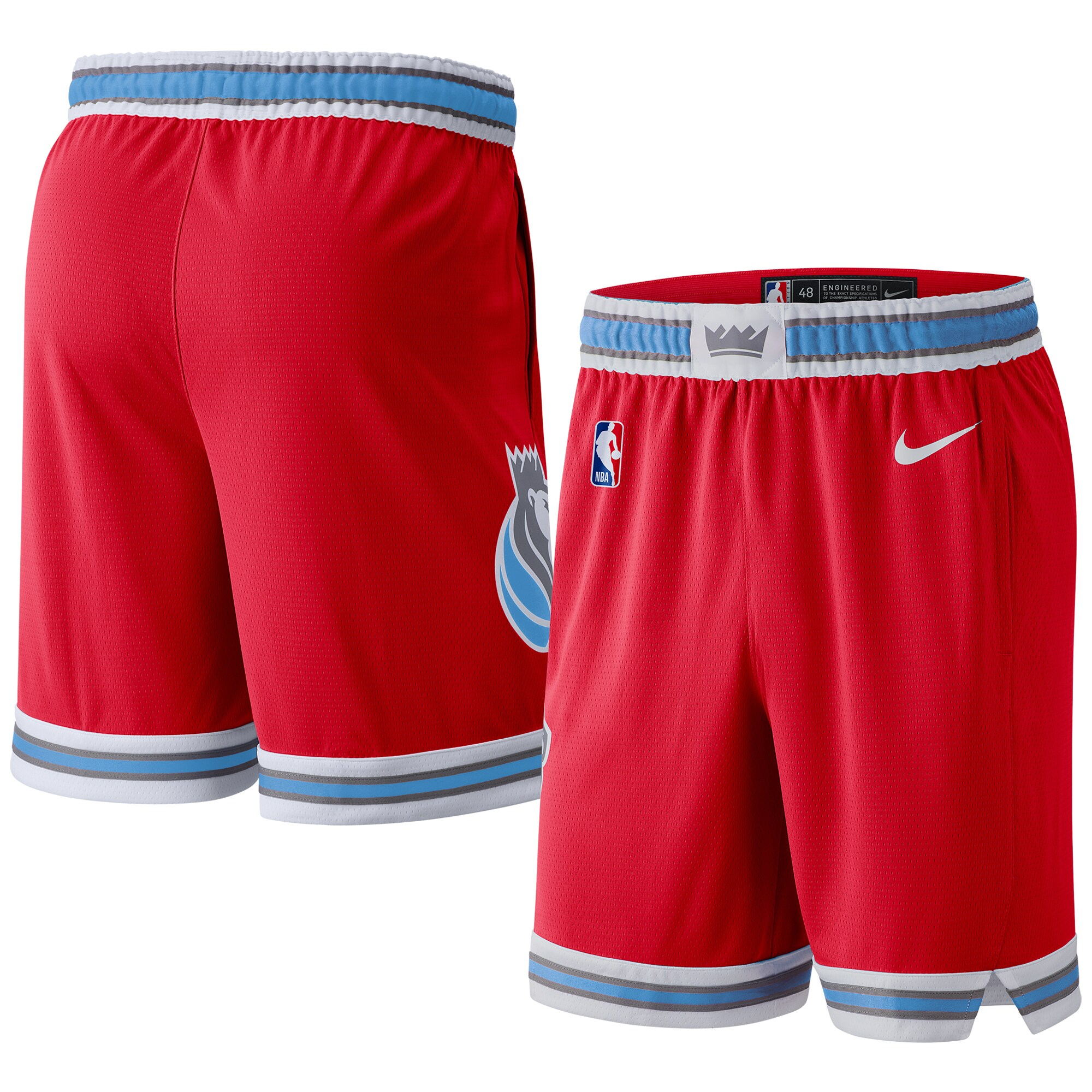 Sacramento Kings Nike 2019/20 City Edition Swingman Shorts - Red