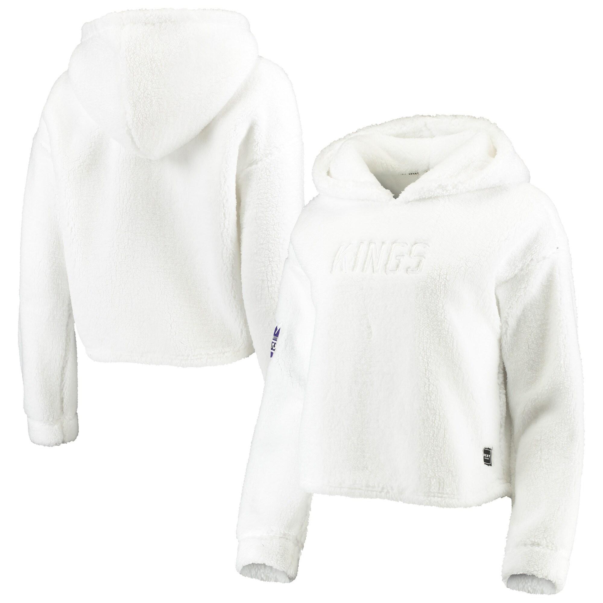 Sacramento Kings DKNY Sport Women's Cozy Pullover Hoodie - White