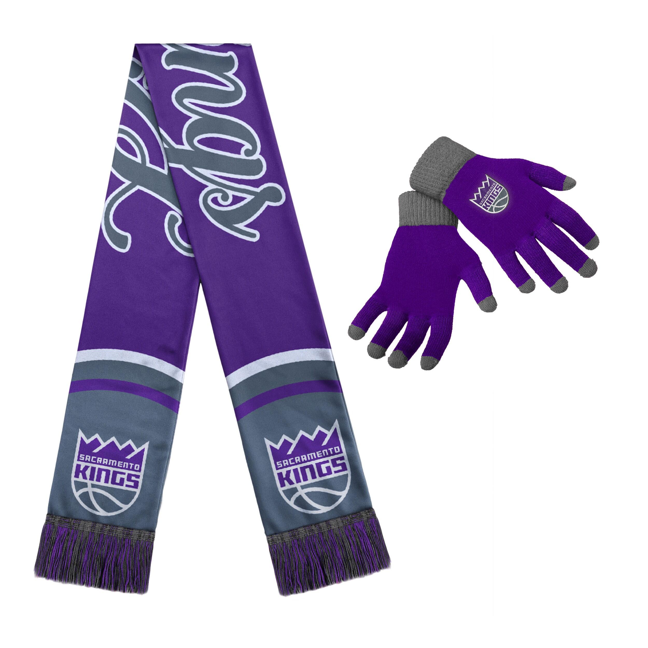 Sacramento Kings Women's Glove and Scarf Set