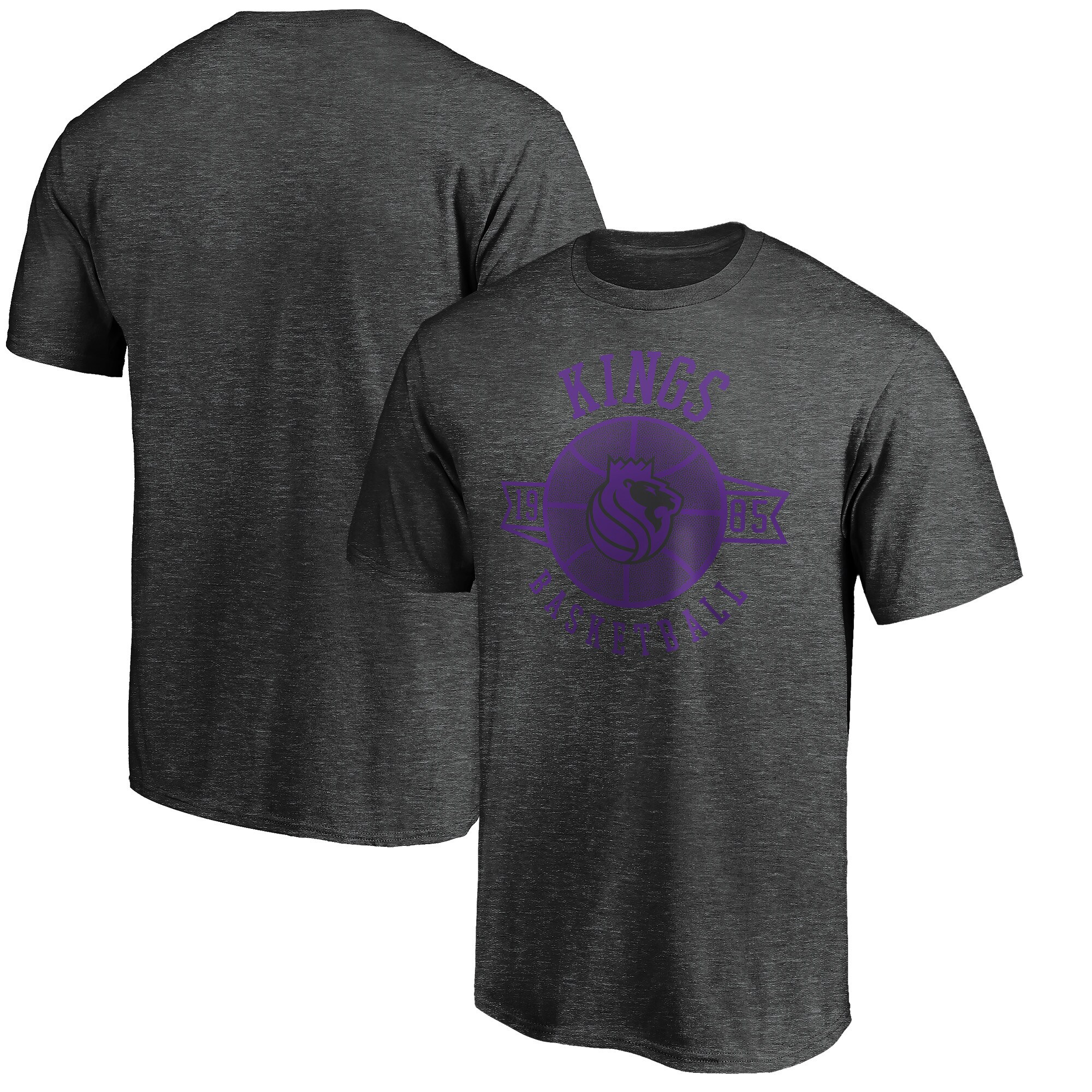 Sacramento Kings Fanatics Branded Showtime International Foul T-Shirt - Heathered Charcoal