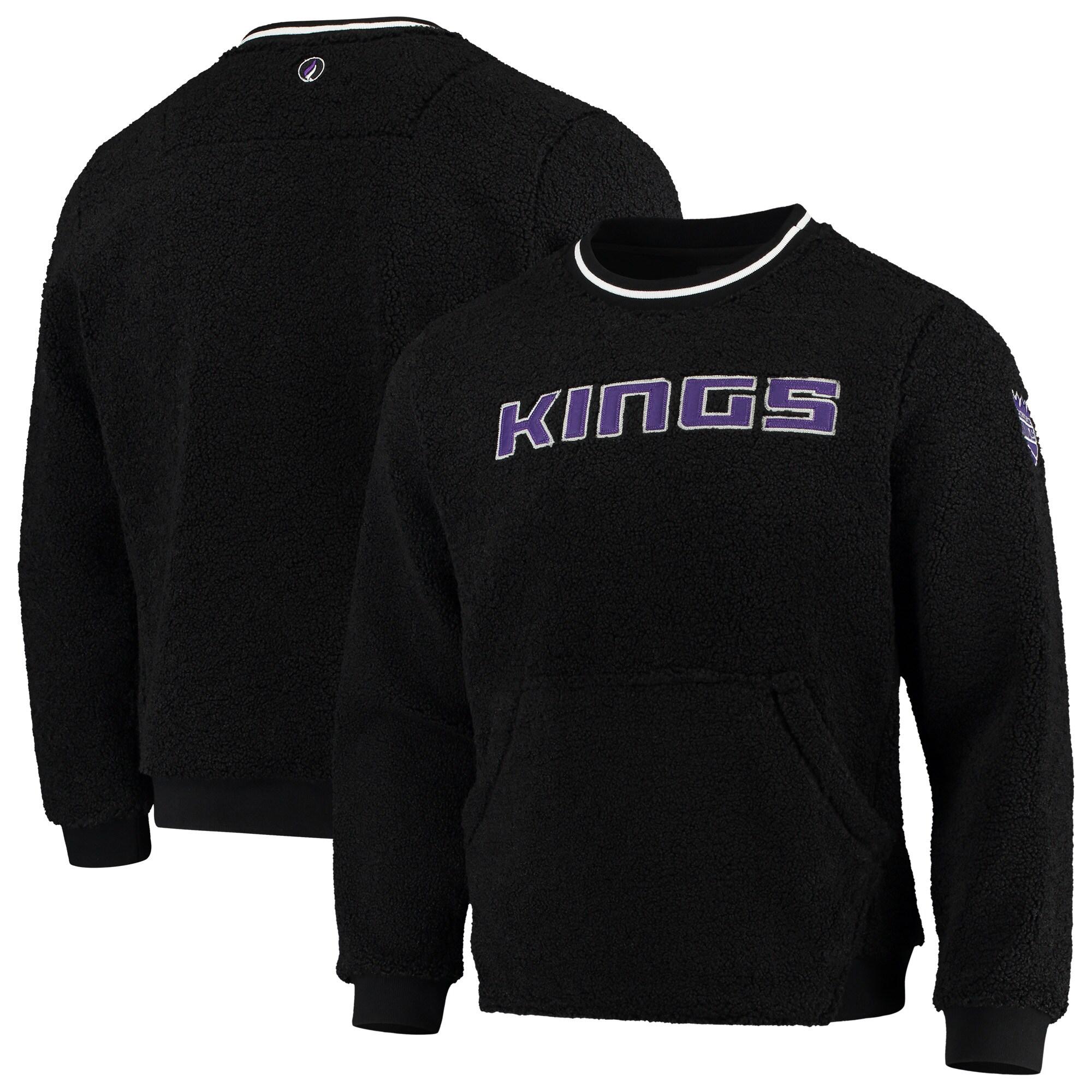 Sacramento Kings FISLL Moto Sherpa Pullover Sweatshirt - Black