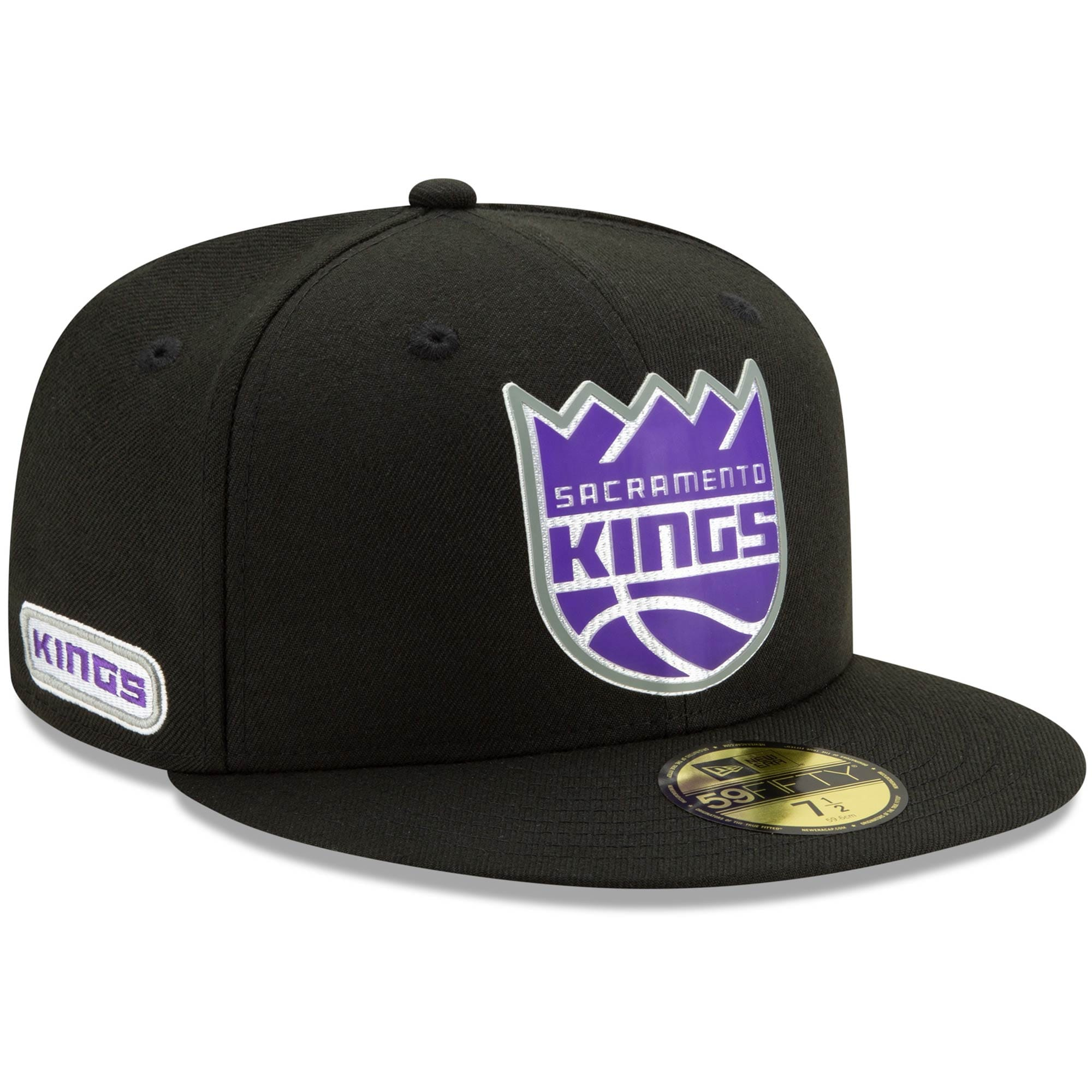 Sacramento Kings New Era Official Back Half 59FIFTY Fitted Hat - Black