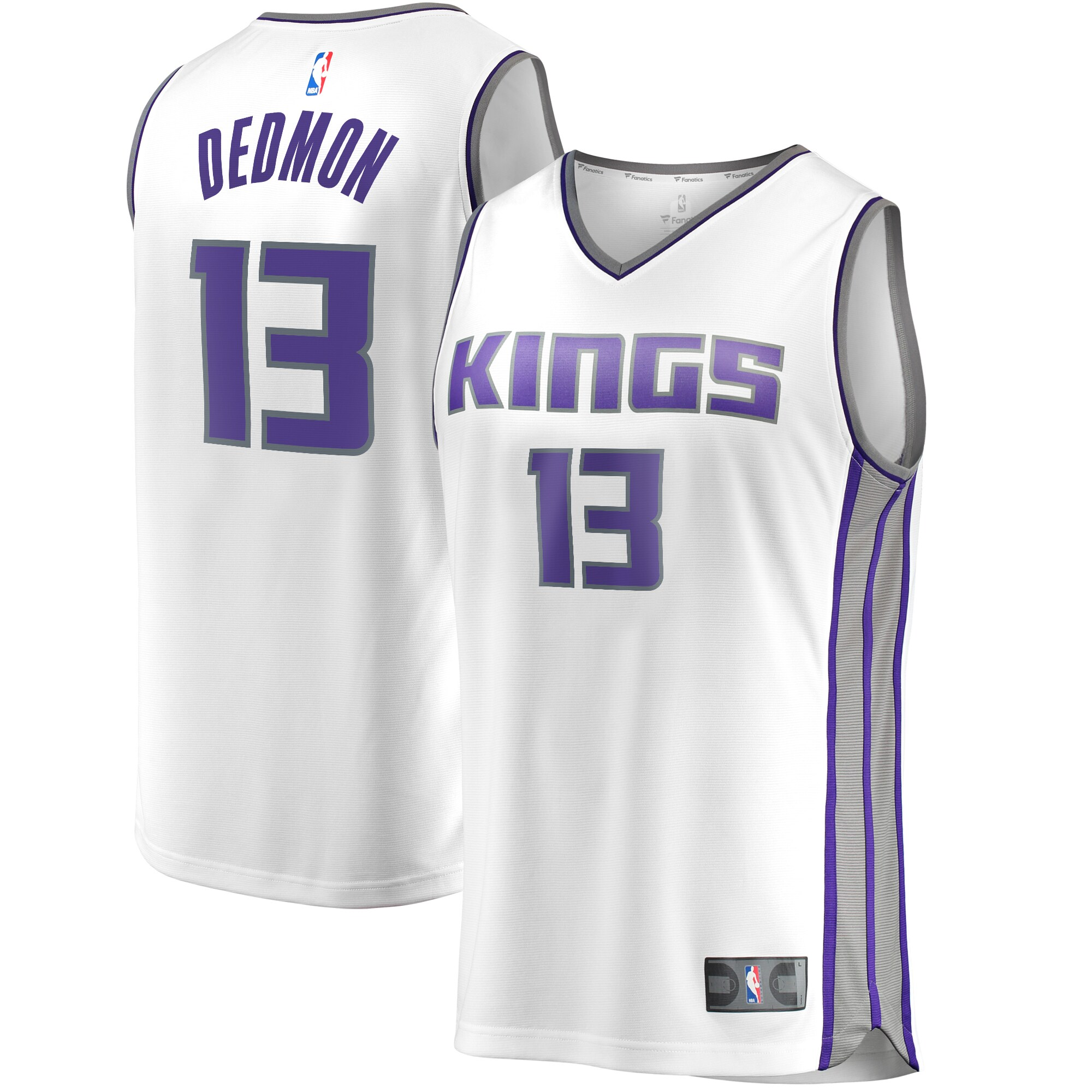 Dewayne Dedmon Sacramento Kings Fanatics Branded Fast Break Replica Player Jersey White - Association Edition