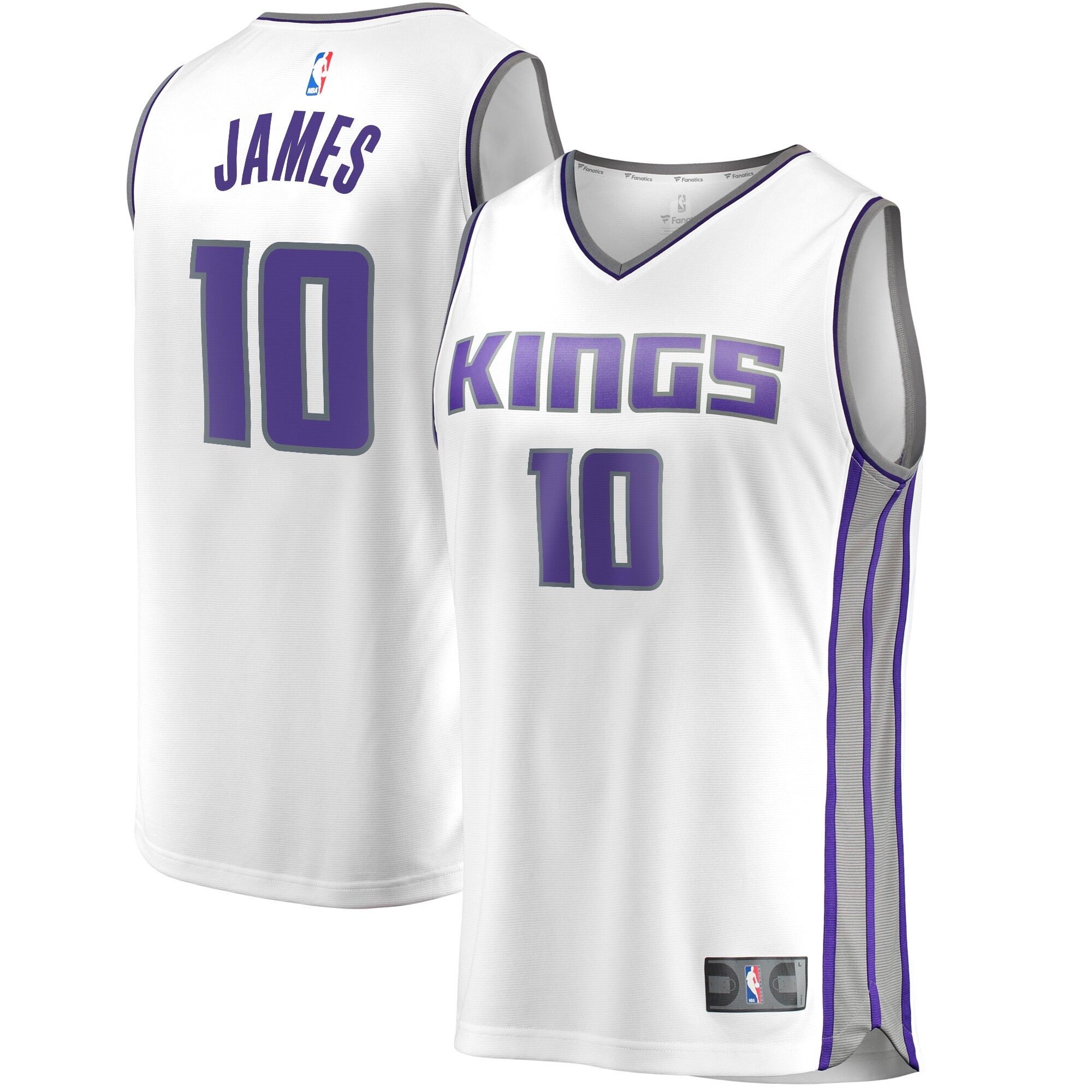 Justin James Sacramento Kings Fanatics Branded Fast Break Replica Player Jersey White - Association Edition