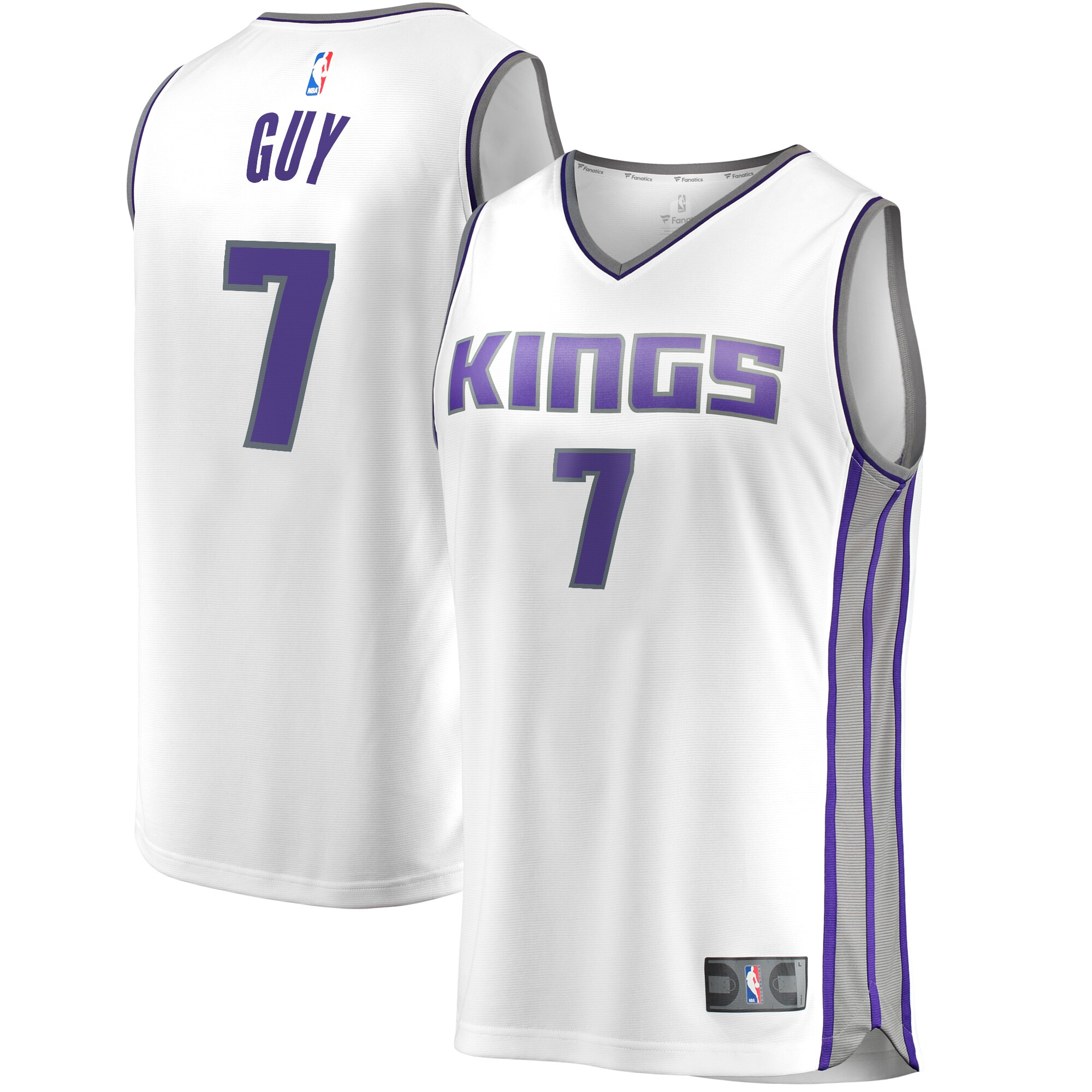 Kyle Guy Sacramento Kings Fanatics Branded Fast Break Replica Player Jersey White - Association Edition