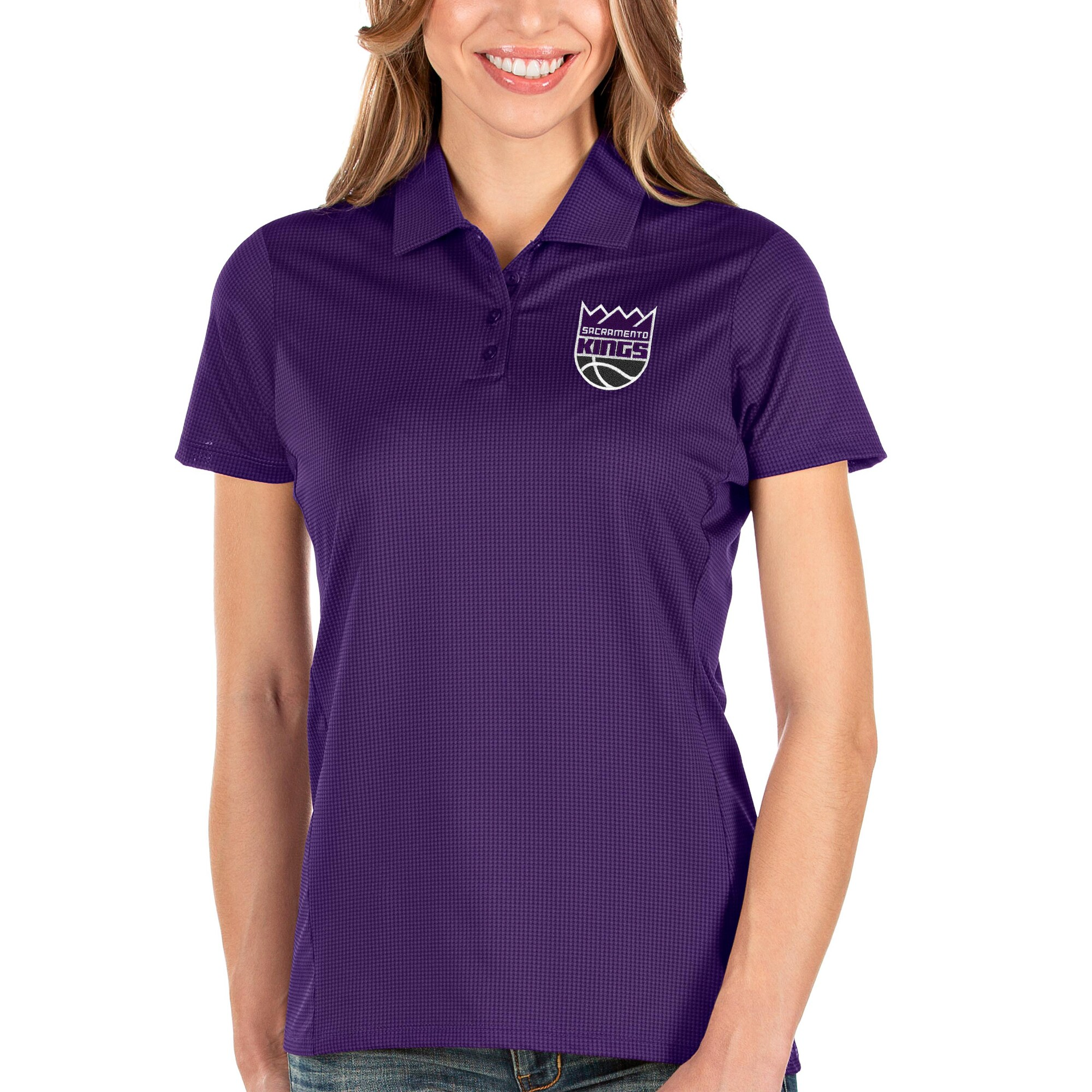 Sacramento Kings Antigua Women's Balance Polo - Purple