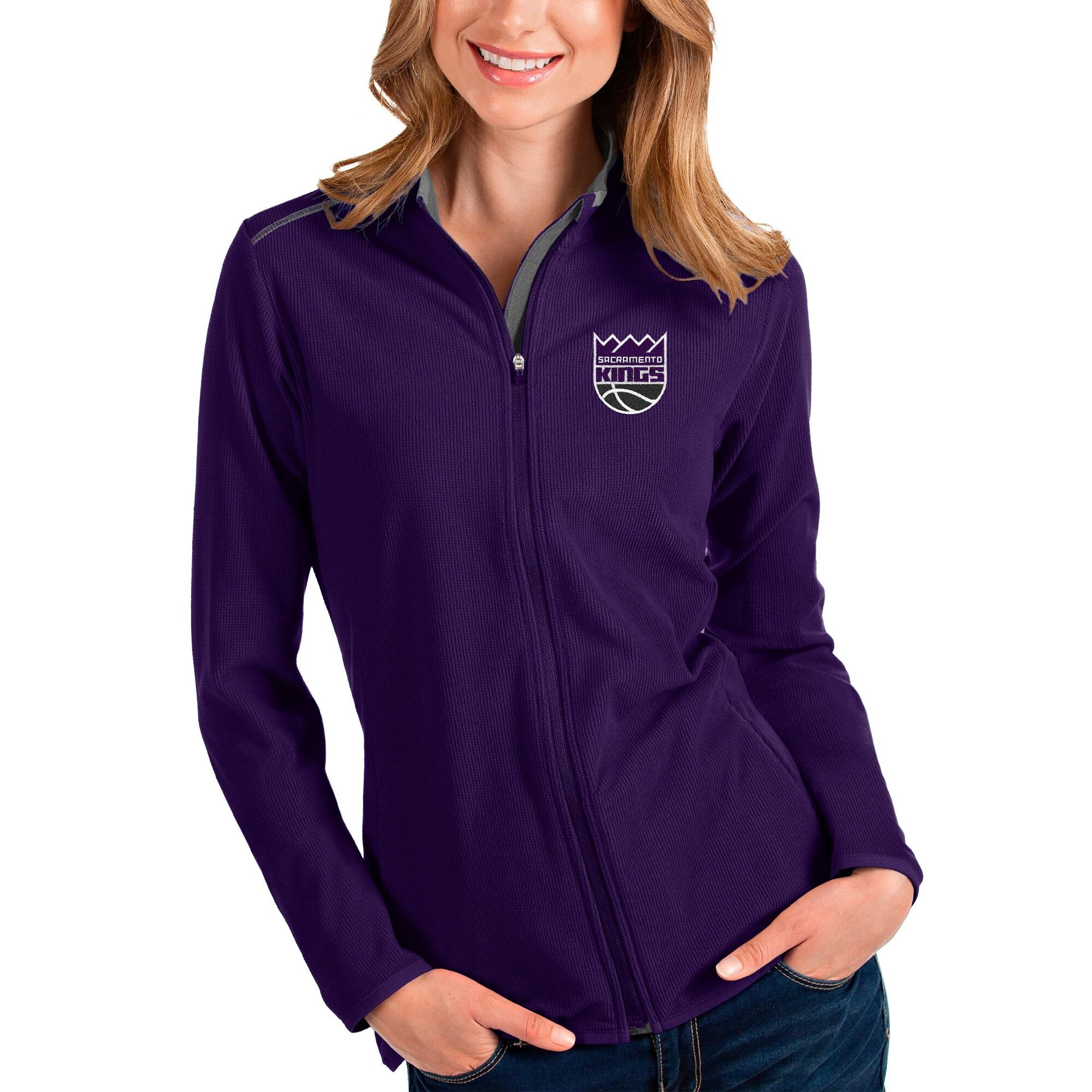 Sacramento Kings Antigua Women's Glacier Full-Zip Jacket - Purple/Gray