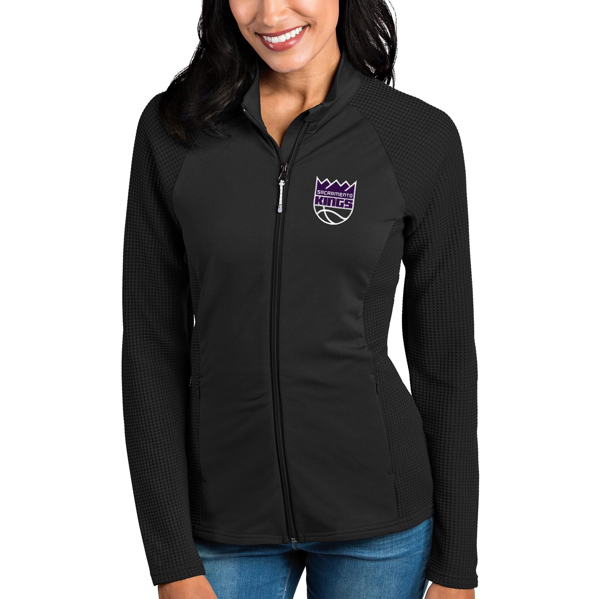 Sacramento Kings Antigua Women's Sonar Full-Zip Jacket - Black