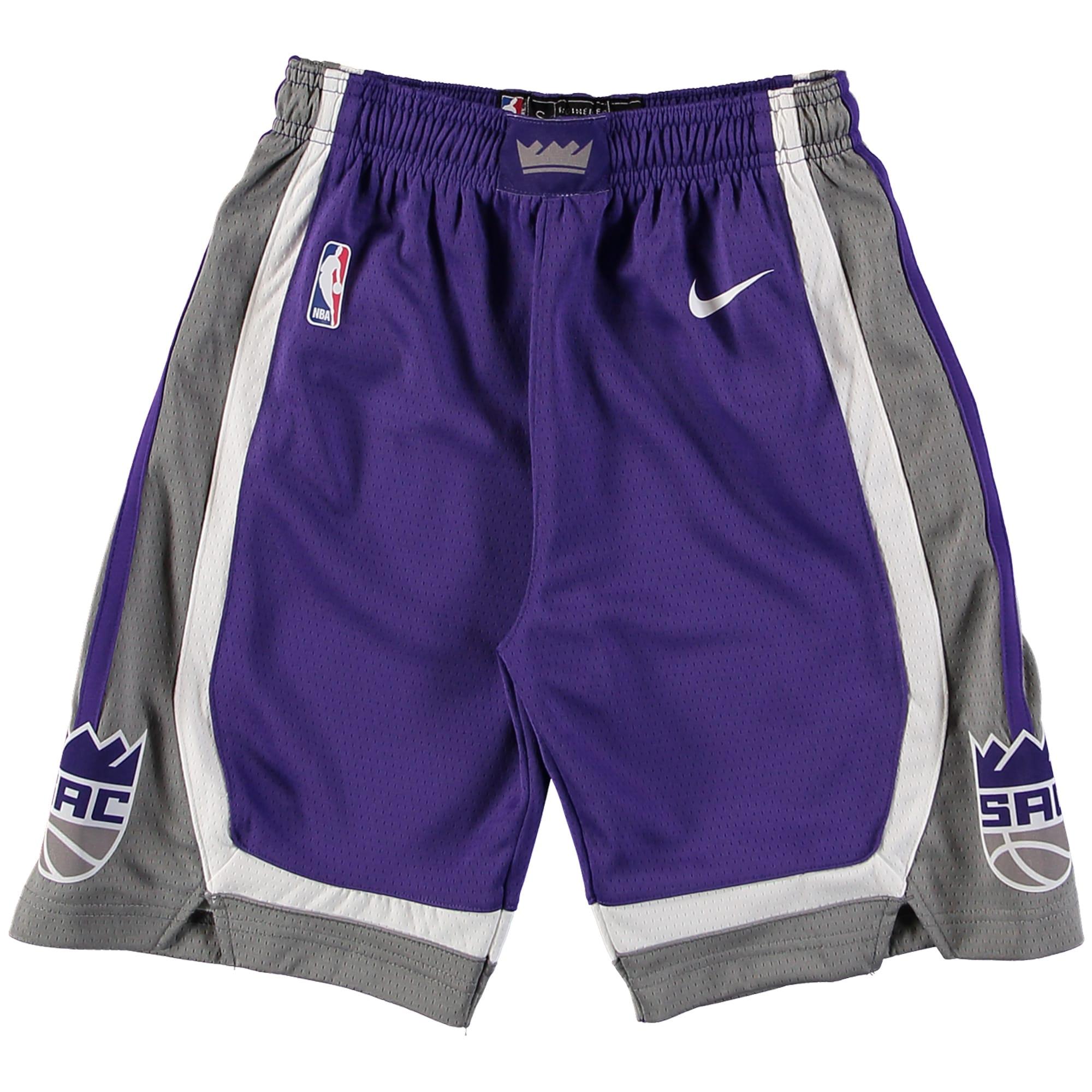Sacramento Kings Nike Youth Swingman Icon Performance Shorts - Purple/Gray