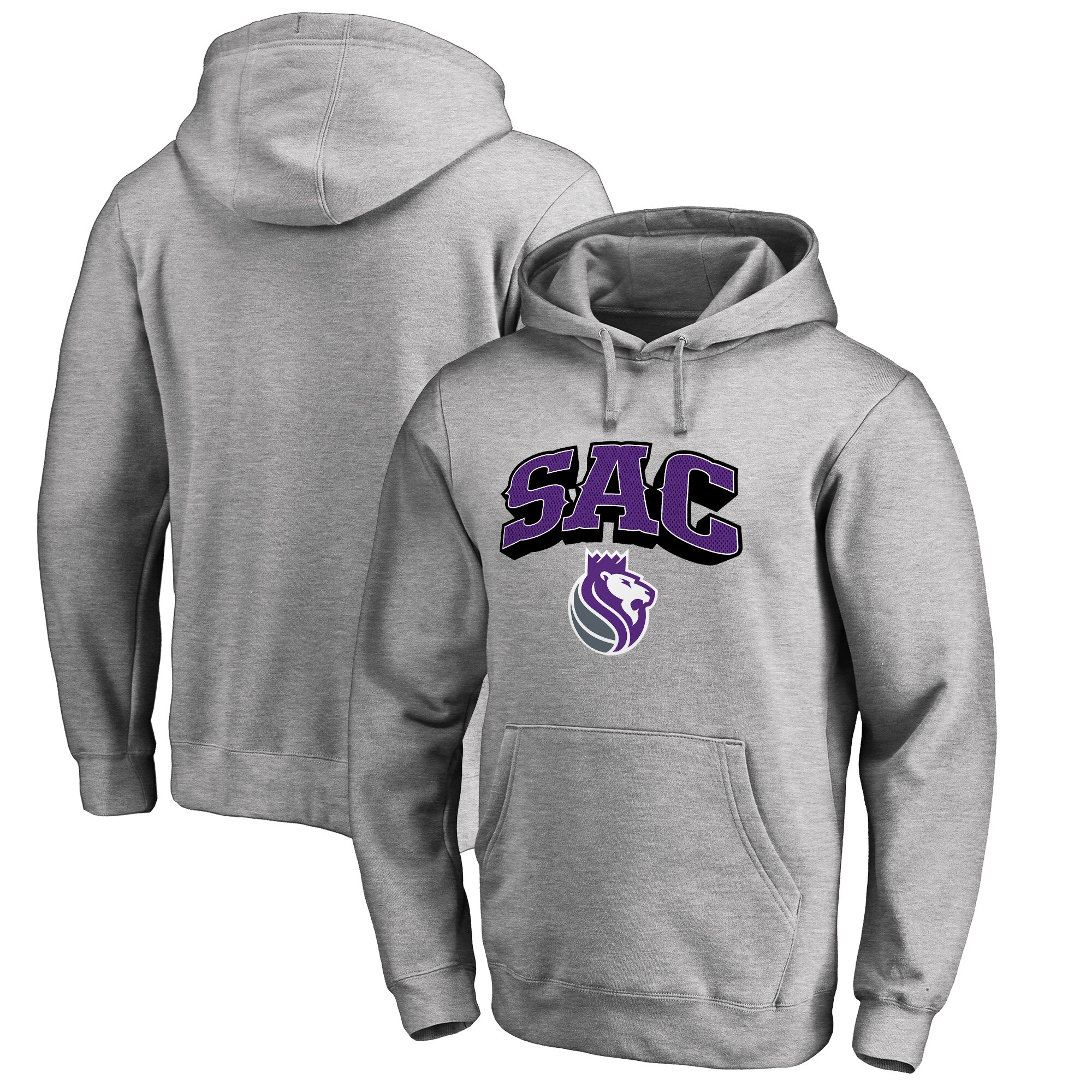 Sacramento Kings Fanatics Branded Big & Tall Sac Hometown Collection Pullover Hoodie - Heathered Gray