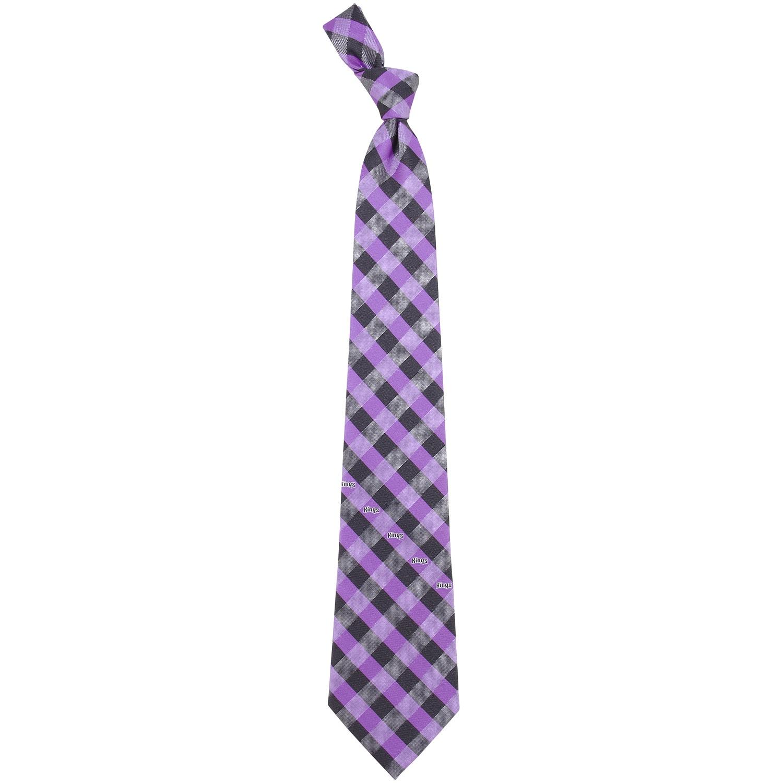 Sacramento Kings Woven Checkered Tie - Purple/Black