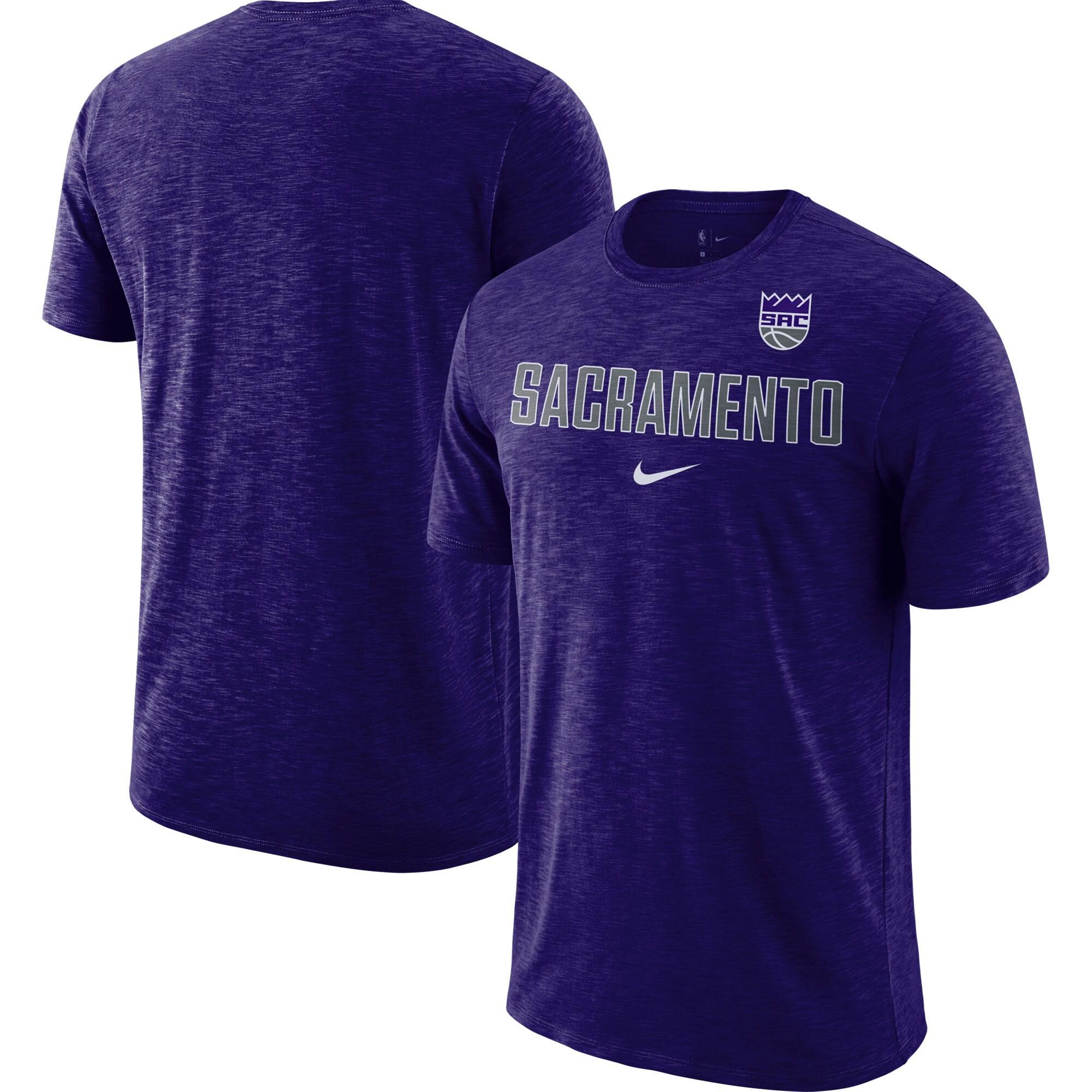 Sacramento Kings Nike Essential Facility Slub Performance T-Shirt - Heathered Purple