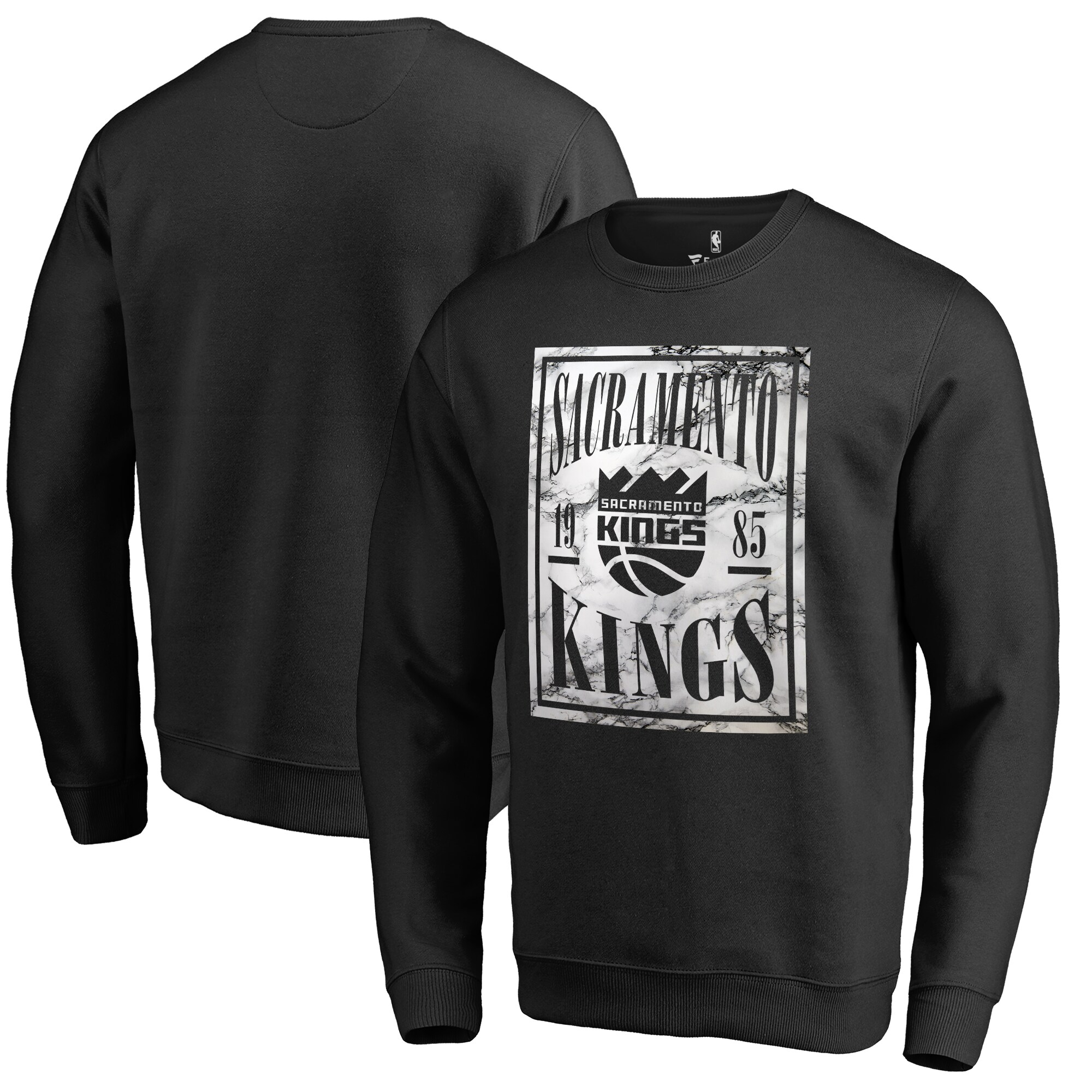 Sacramento Kings Fanatics Branded Court Vision Crew Sweatshirt - Black