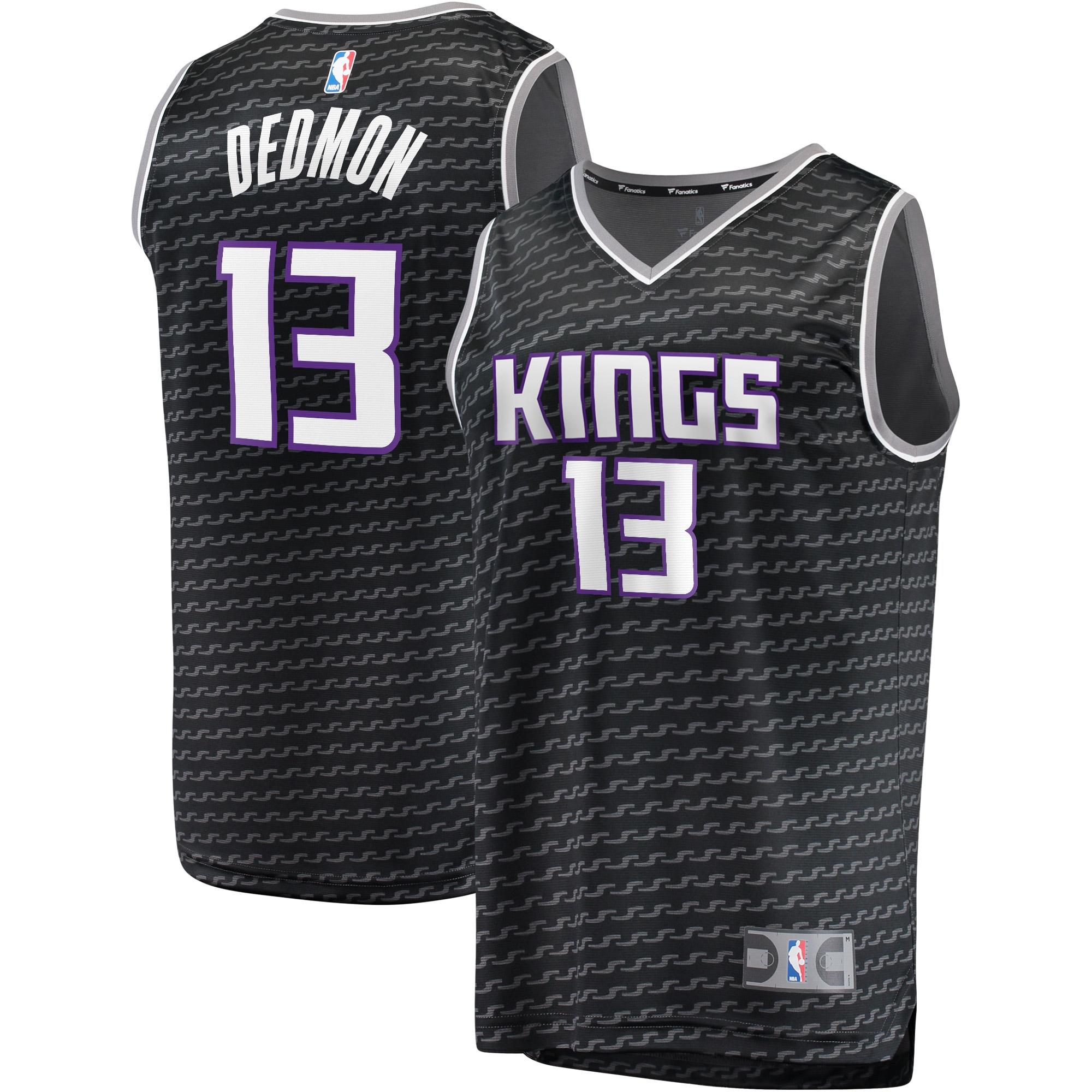 Dewayne Dedmon Sacramento Kings Fanatics Branded Fast Break Replica Player Jersey Black - Statement Edition