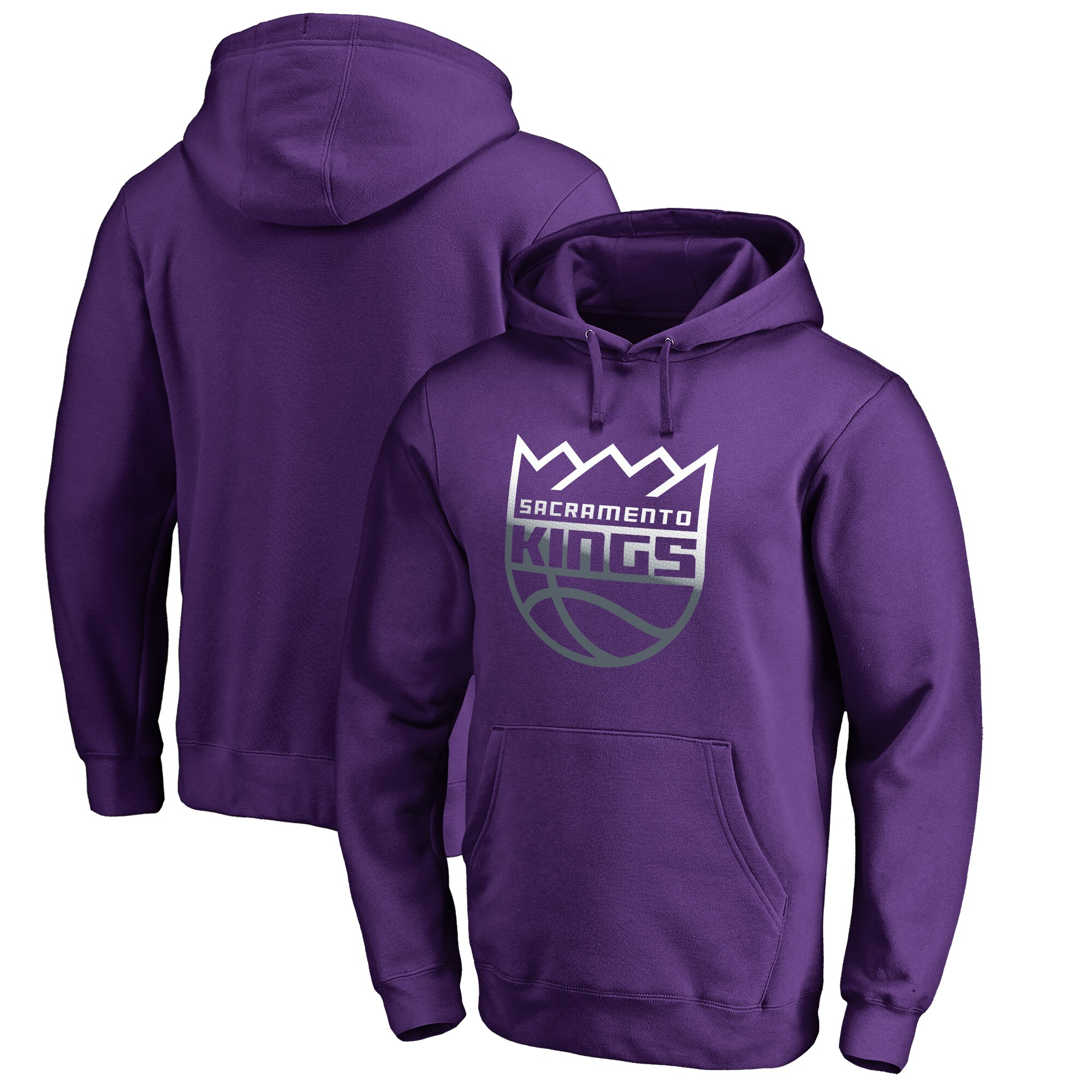 Sacramento Kings Fanatics Branded Gradient Logo Pullover Hoodie - Purple
