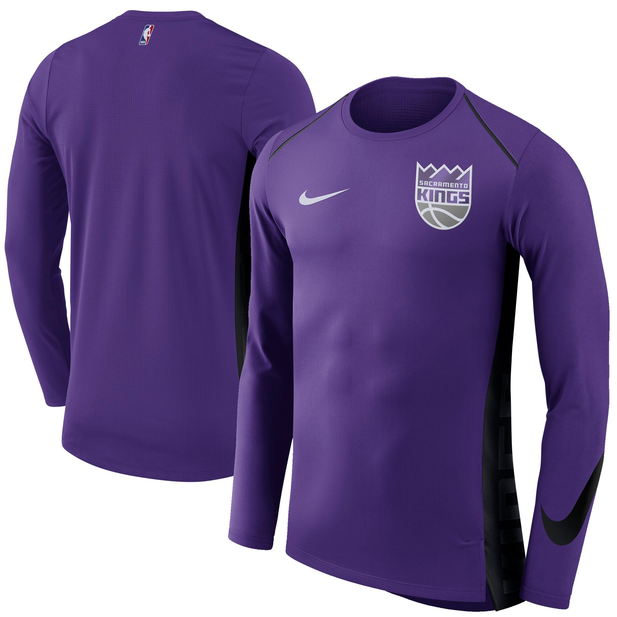 Sacramento Kings Nike Elite Shooter Performance Long Sleeve T-Shirt - Purple