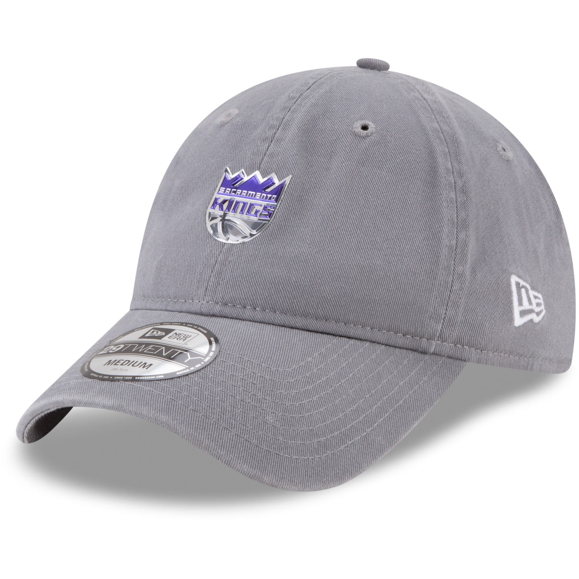 Sacramento Kings New Era On-Court 29TWENTY Fitted Hat - Gray