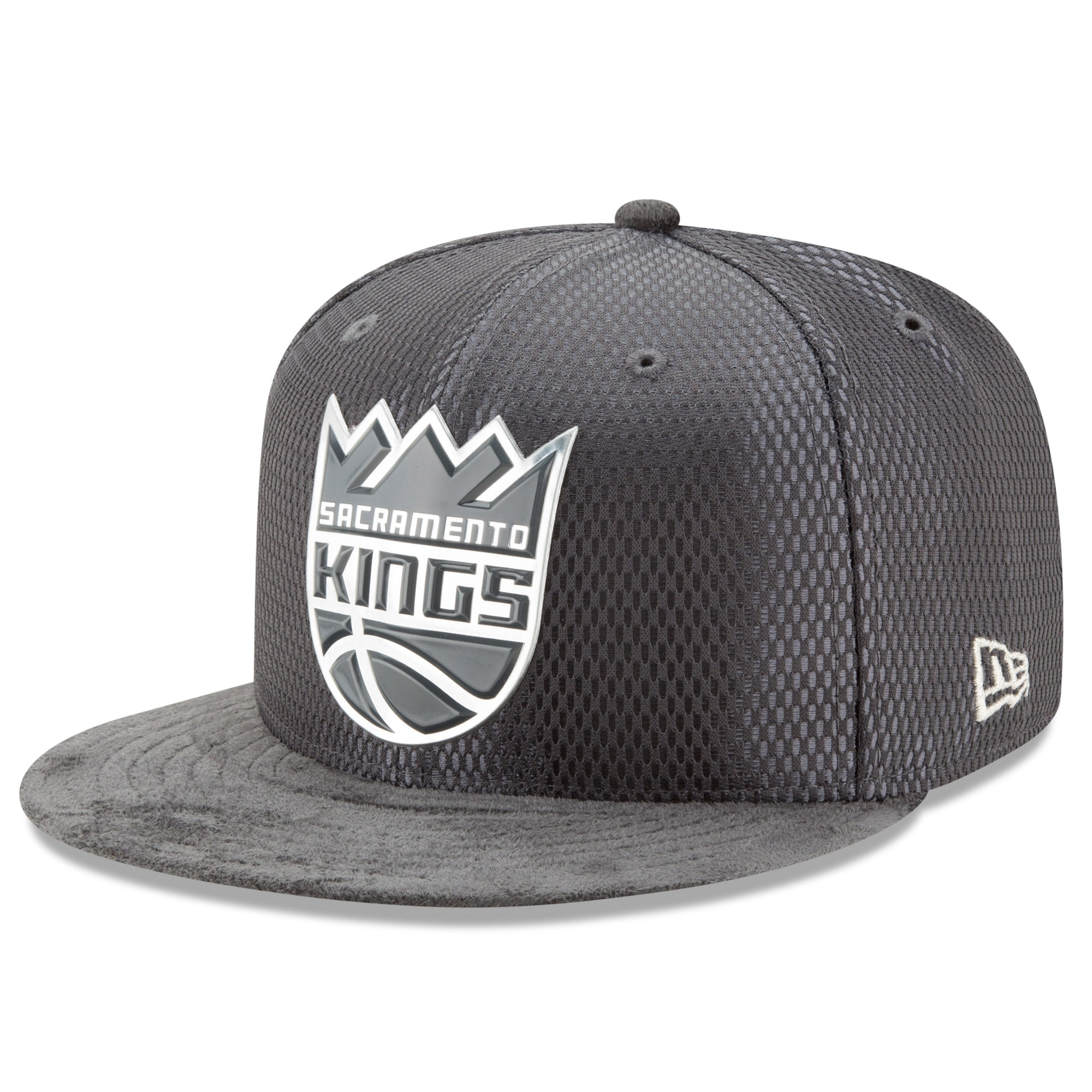 Sacramento Kings New Era Draft Silver Logo 59FIFTY Fitted Hat - Graphite