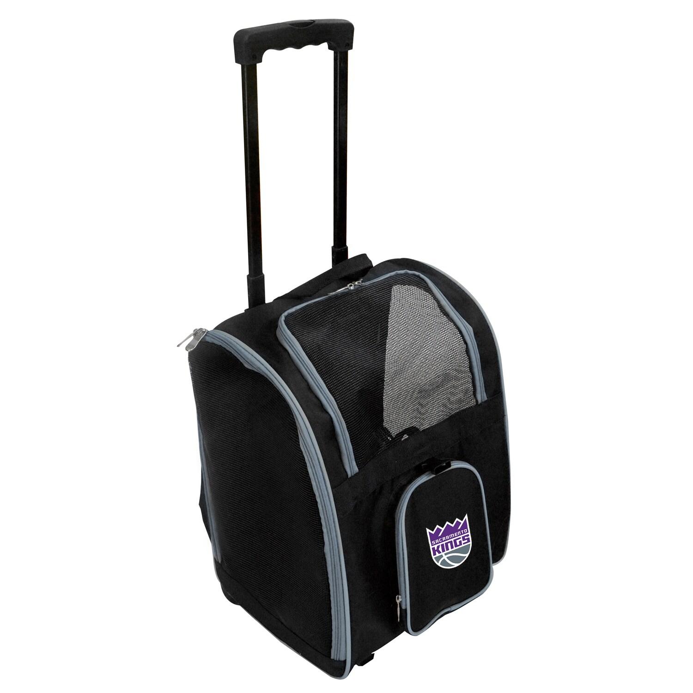 Sacramento Kings 2-Wheeled Roller Pet Carrier - Black