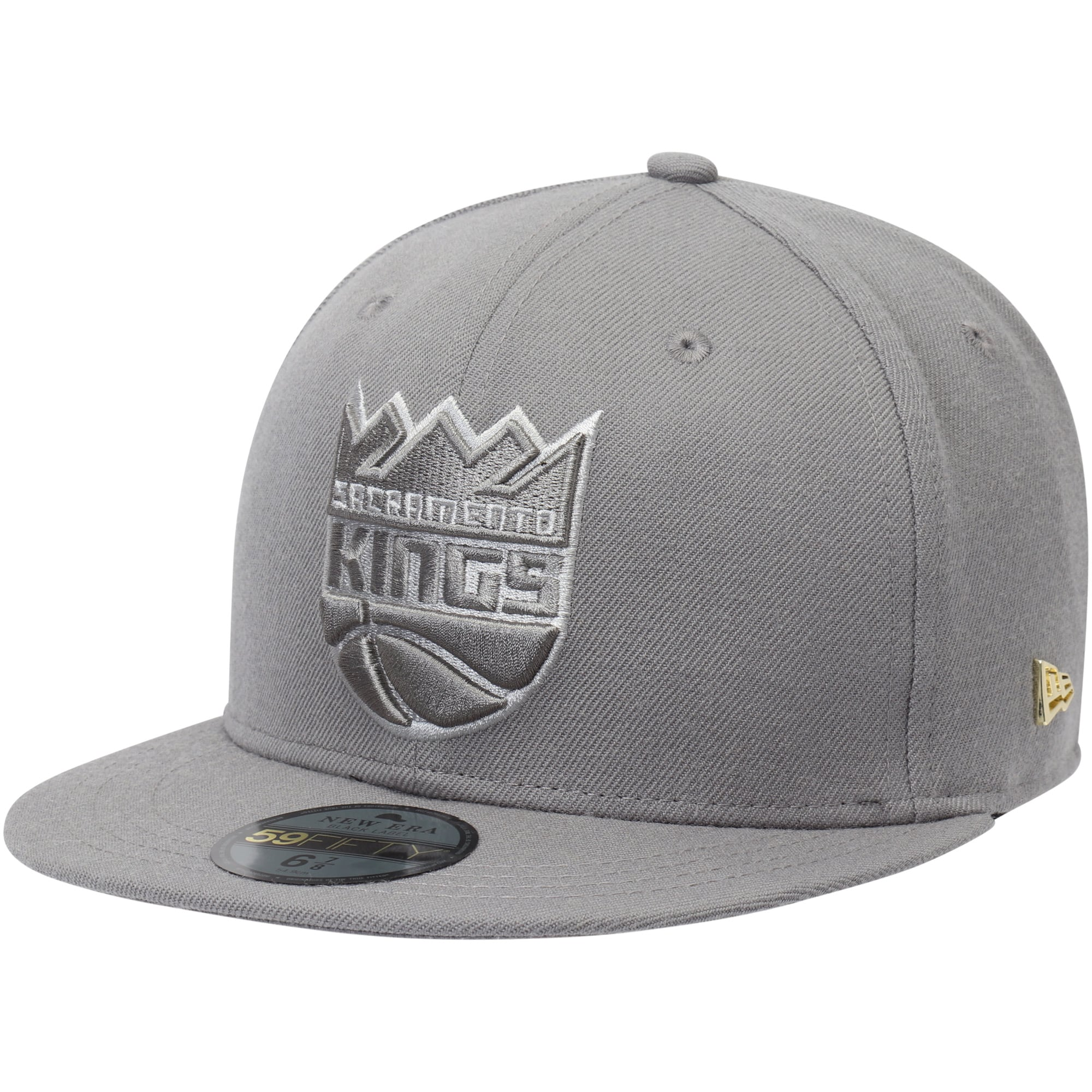Sacramento Kings New Era Essential Black Label Series 59FIFTY Fitted Hat - Gray
