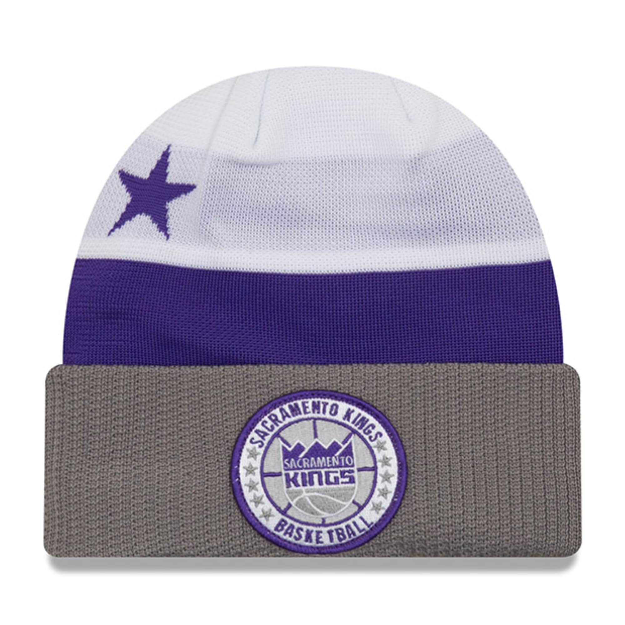 Sacramento Kings New Era 2018 Tip Off Series Cuffed Knit Hat - White