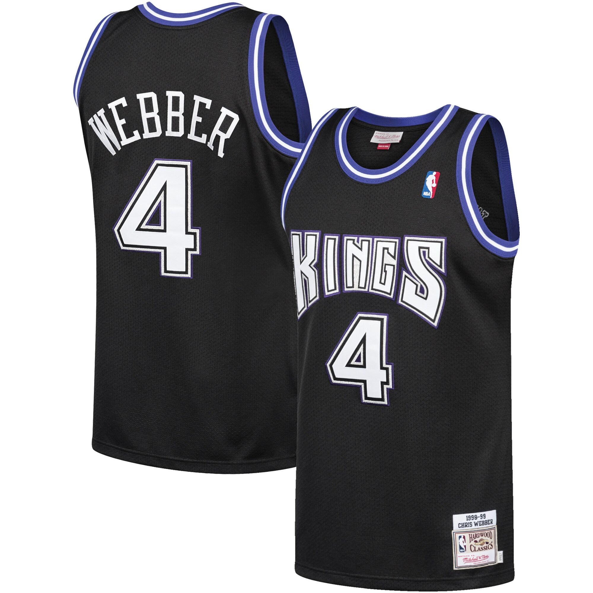 Chris Webber Sacramento Kings Mitchell & Ness 1998-99 Hardwood Classics Authentic Jersey - Black