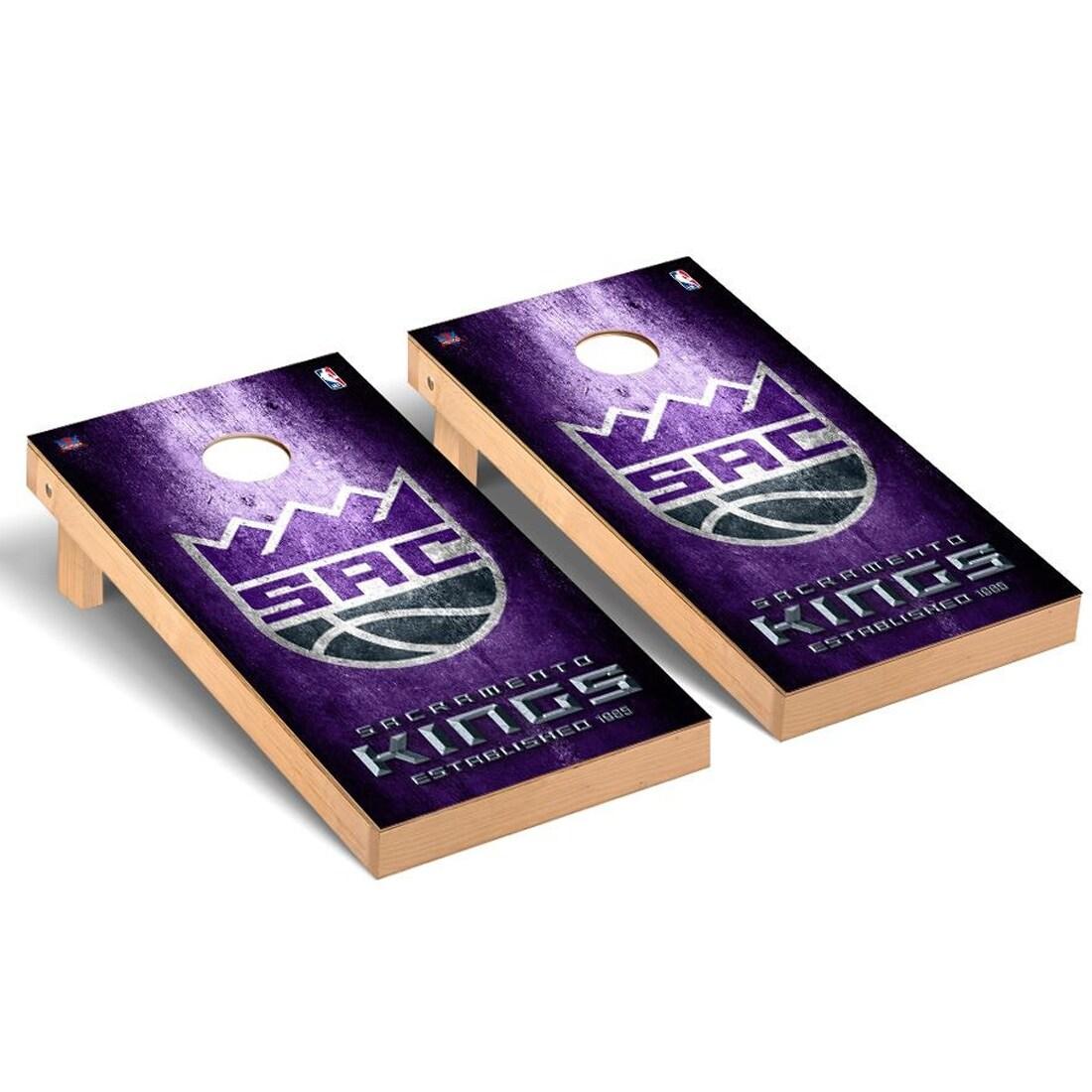 Sacramento Kings 2' x 4' Metal Museum Cornhole Board Tailgate Toss Set