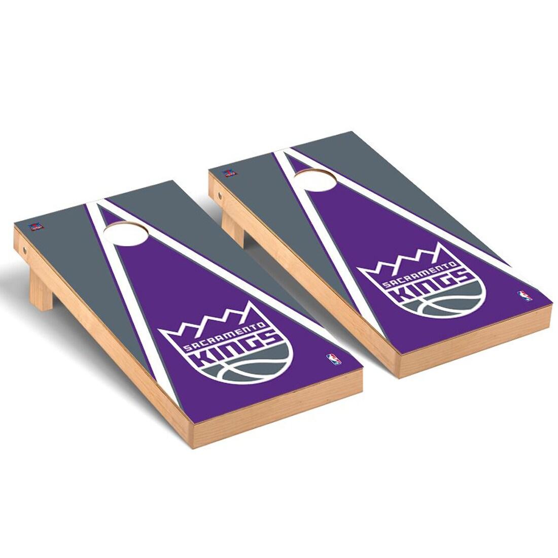 Sacramento Kings 2' x 4' Triangle Museum Cornhole Board Tailgate Toss Set