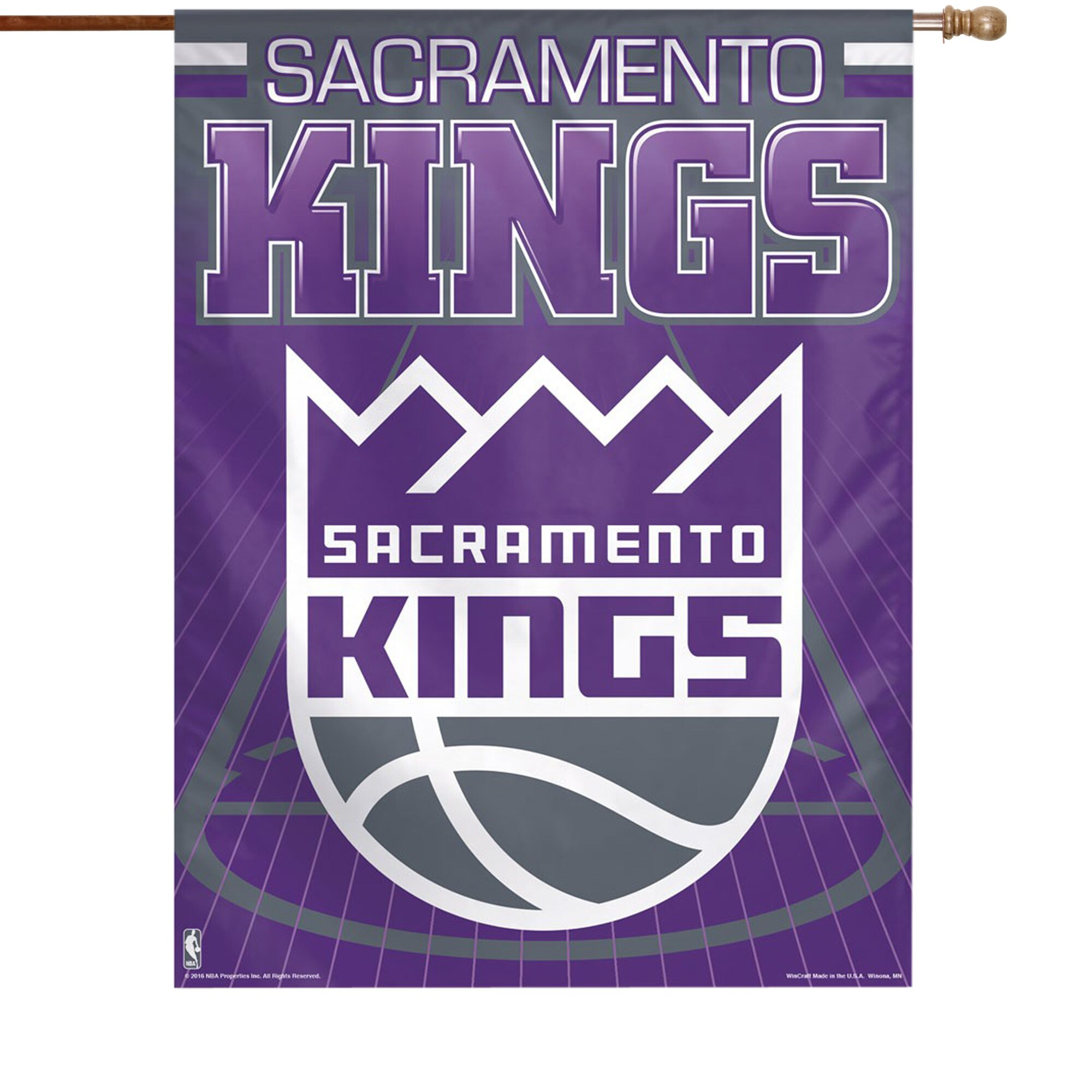 "Sacramento Kings WinCraft 27"" x 37"" Court Single-Sided Vertical Banner"