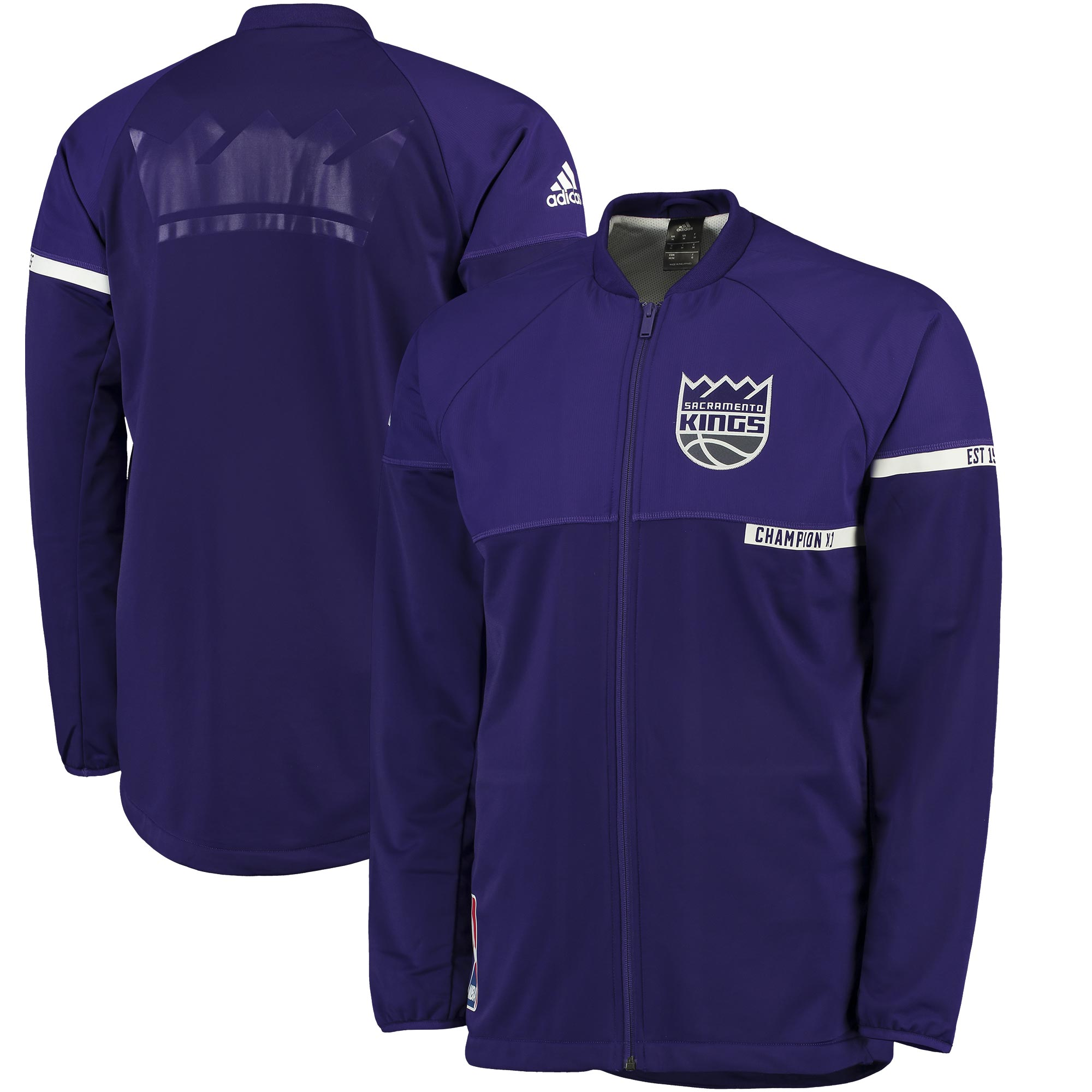 Sacramento Kings adidas 2016 On-Court Jacket - Purple