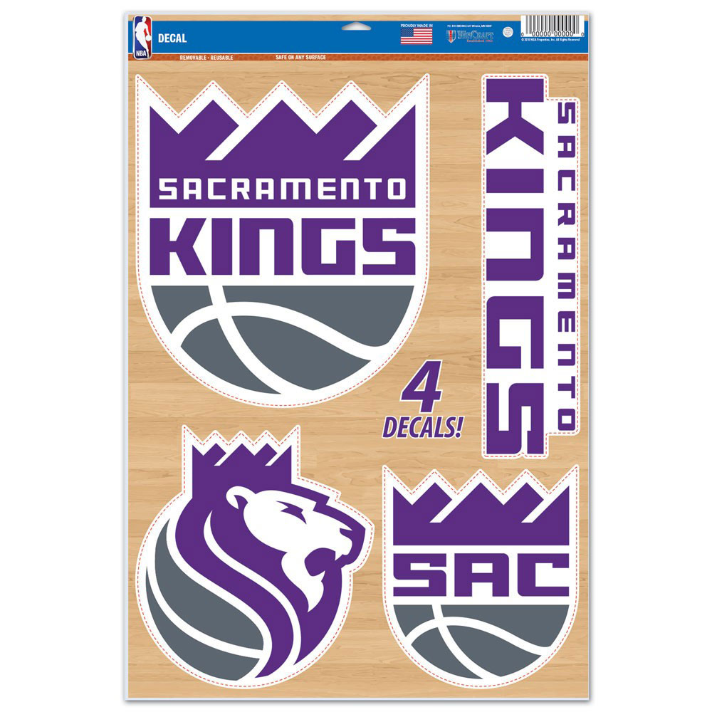"Sacramento Kings WinCraft 11"" x 17"" Multi-Use Decal Sheet"