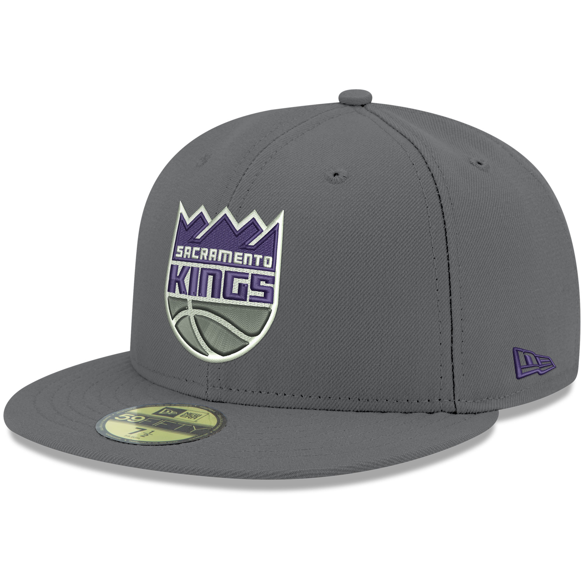 Sacramento Kings New Era Official Team Color 59FIFTY Fitted Hat - Gray