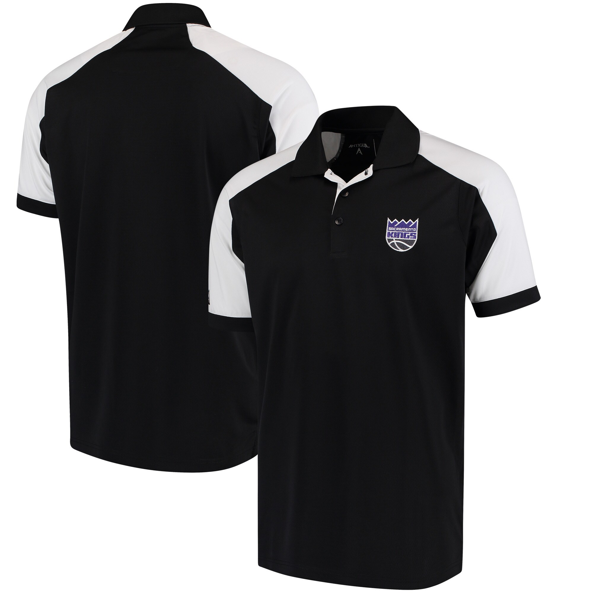 Sacramento Kings Antigua Century Performance Polo - Black/White