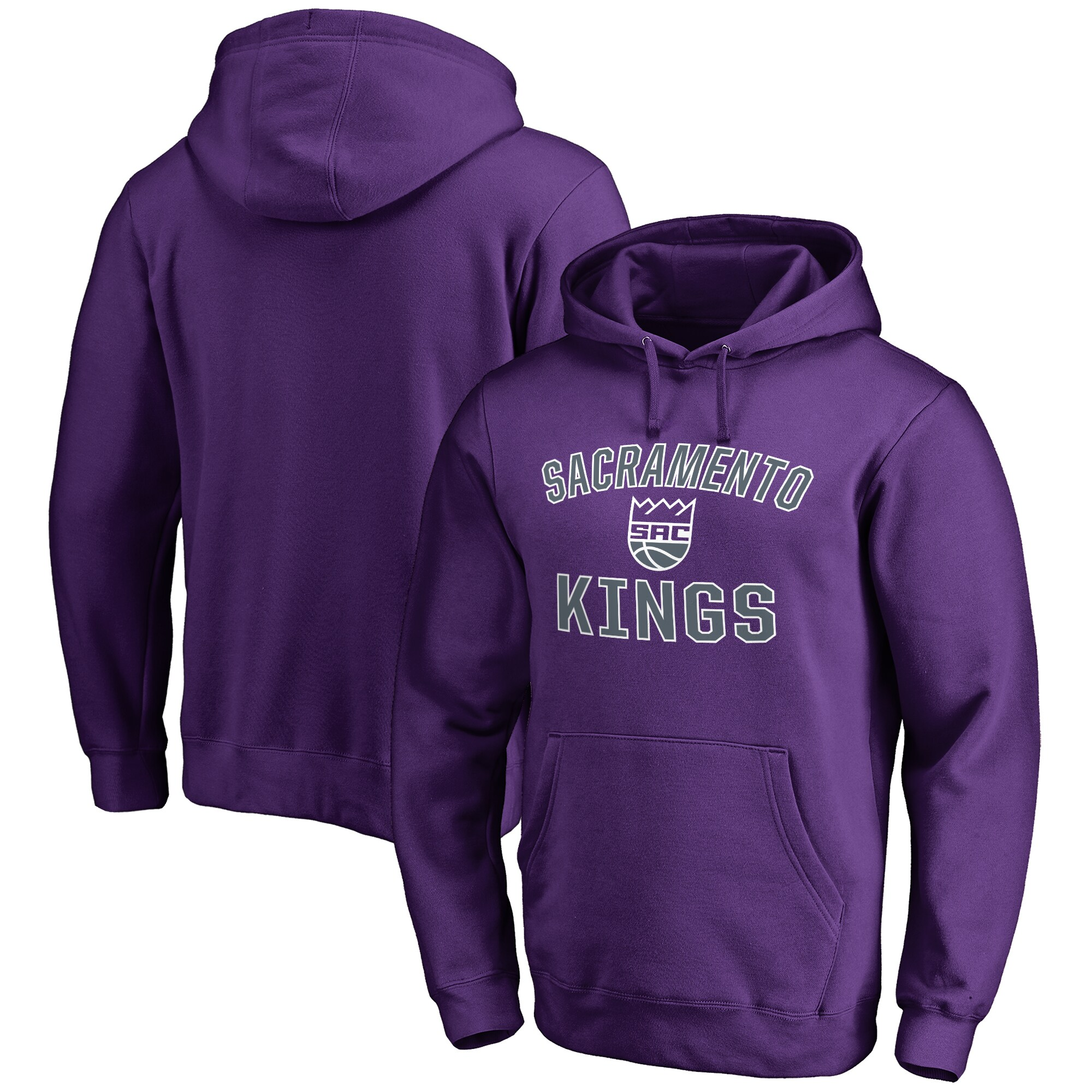Sacramento Kings Big & Tall Victory Arch Pullover Hoodie - Purple