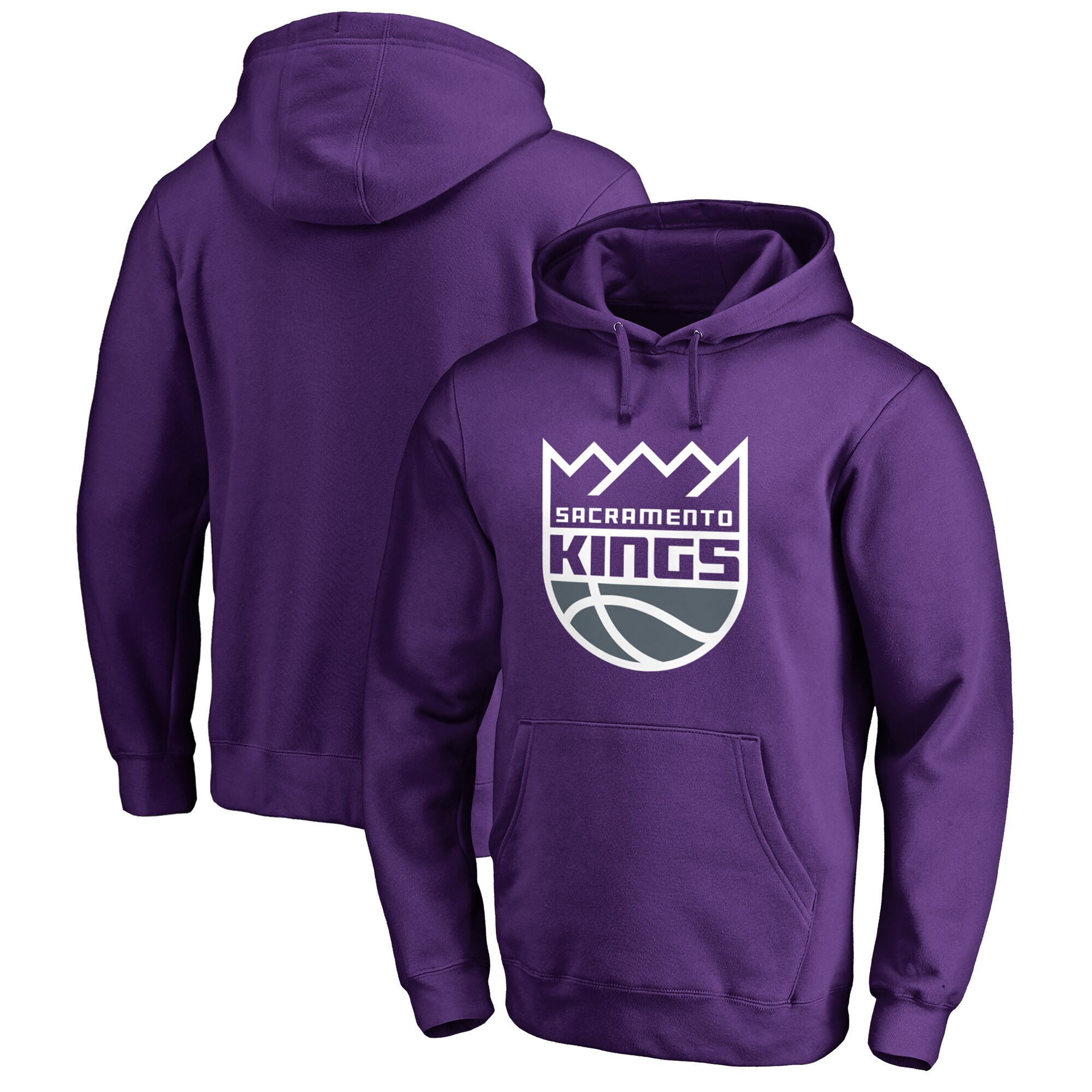 Sacramento Kings Fanatics Branded Big & Tall Primary Logo Pullover Hoodie - Purple