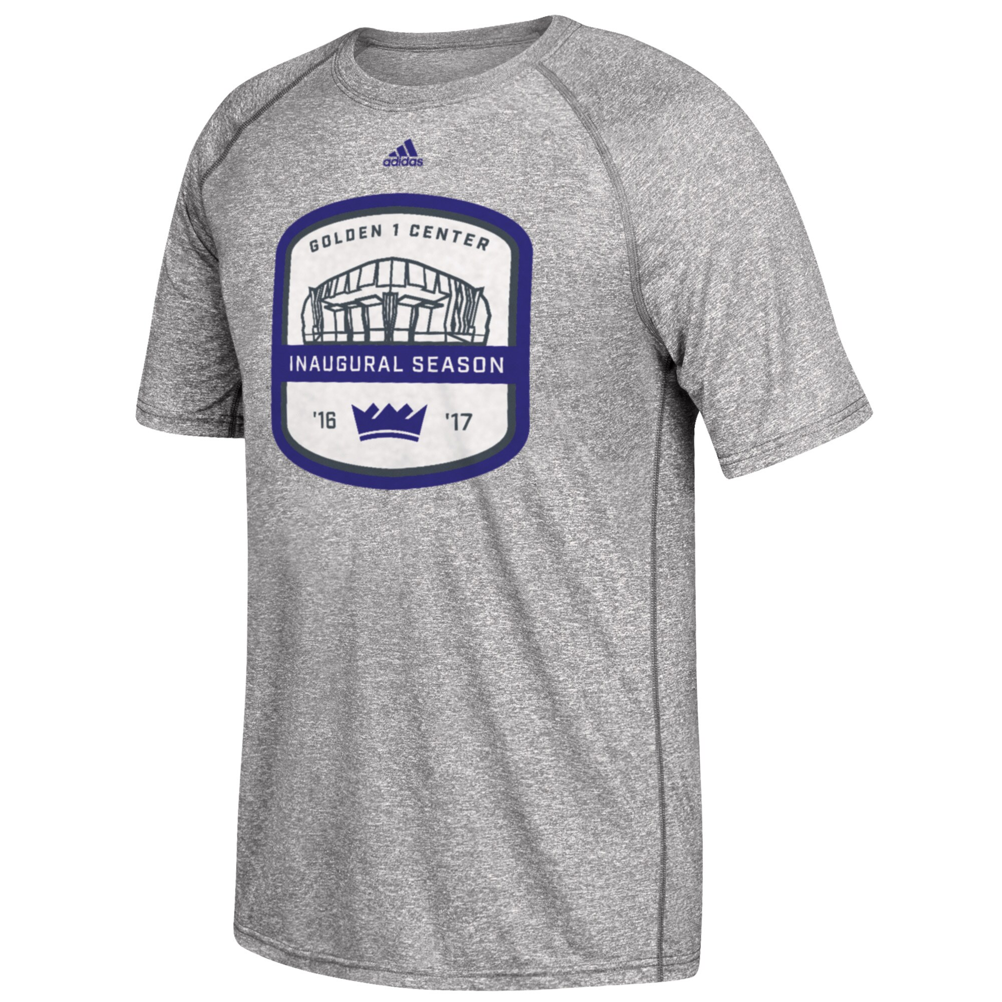 Sacramento Kings adidas 2016/17 Commemorative climalite T-Shirt - Gray