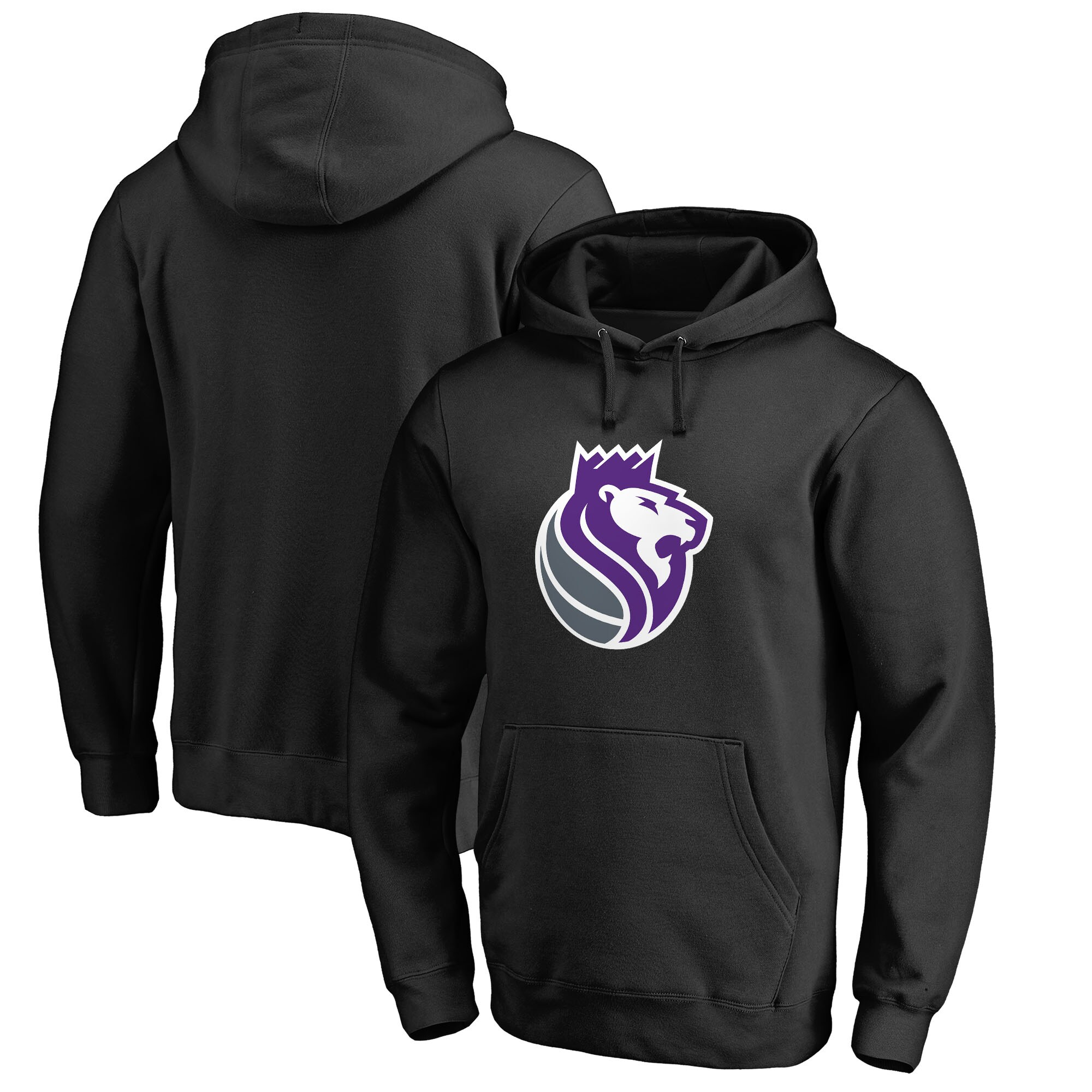 Sacramento Kings Fanatics Branded Alternate Logo Pullover Hoodie - Black