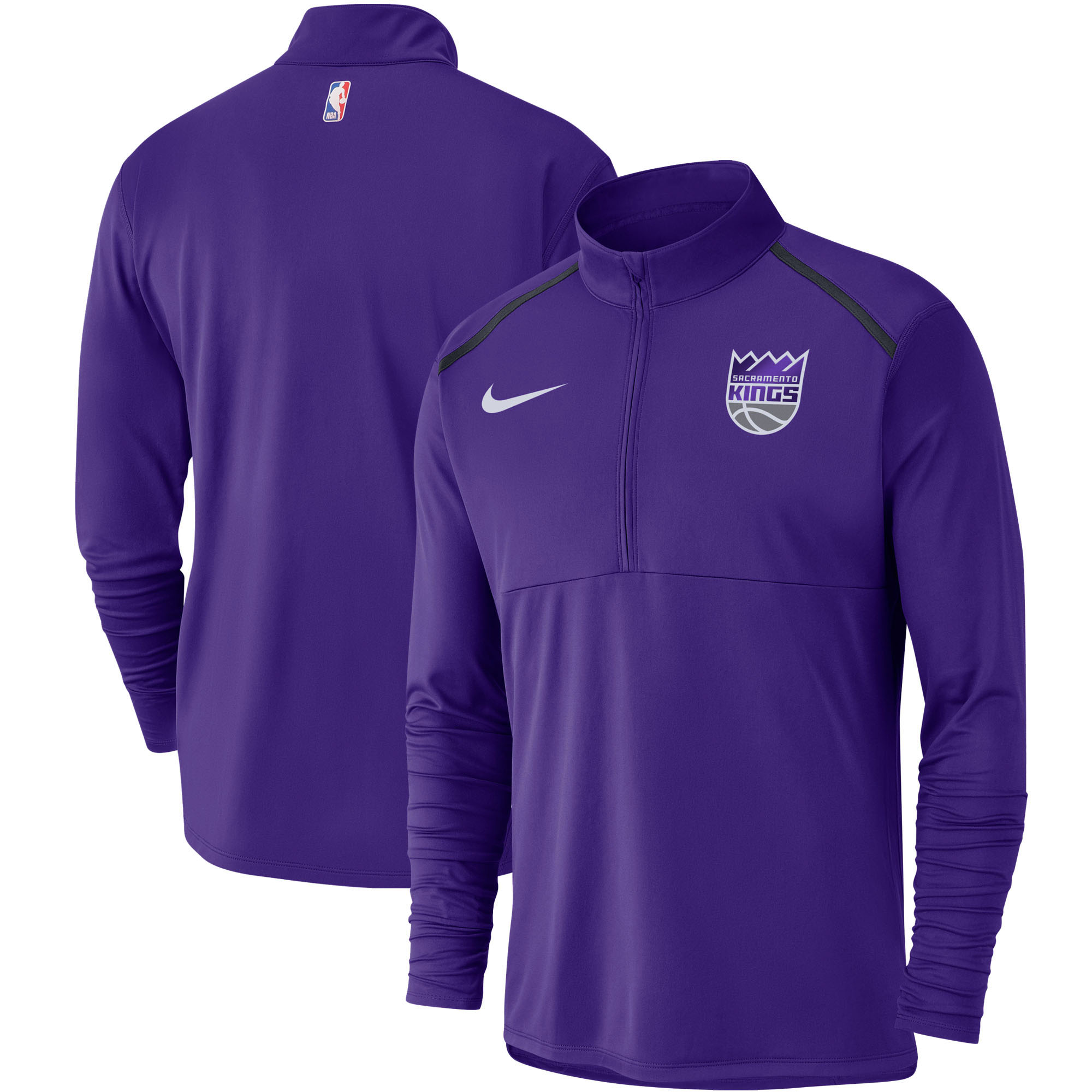 Sacramento Kings Nike Element Performance Half-Zip Pullover Jacket - Purple