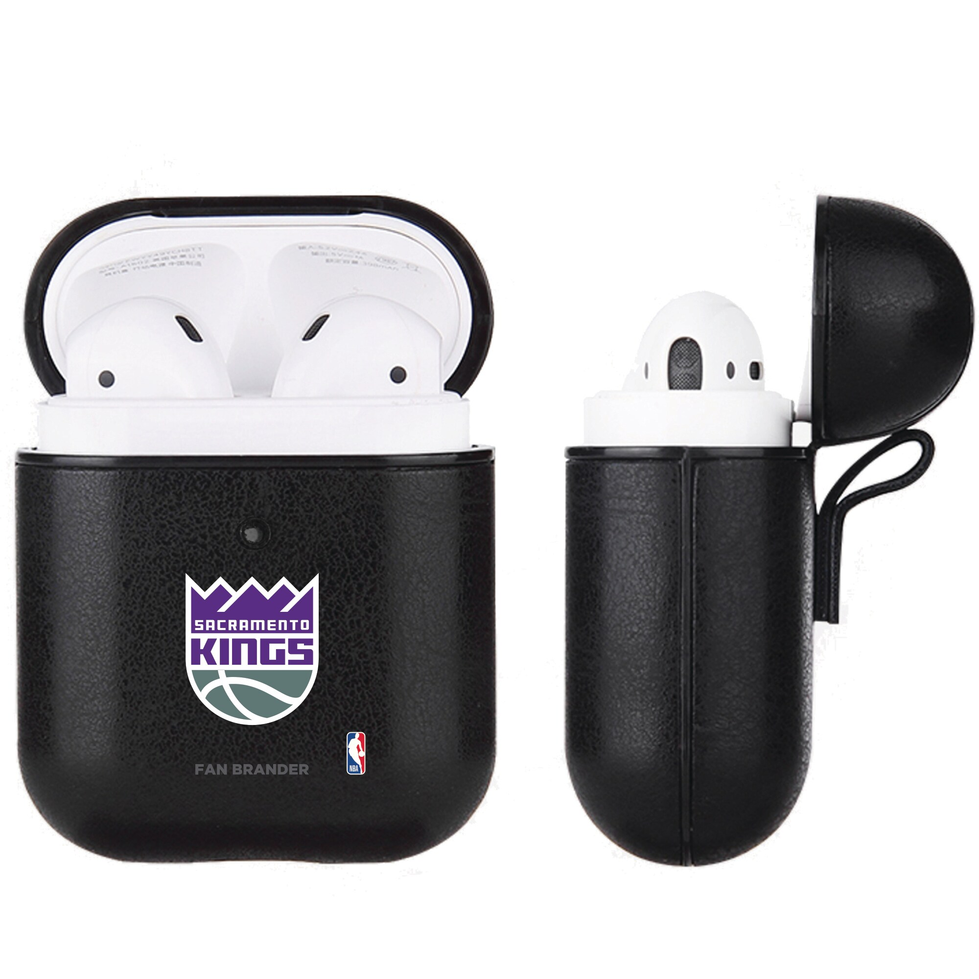 Sacramento Kings Air Pods Black Leatherette Case