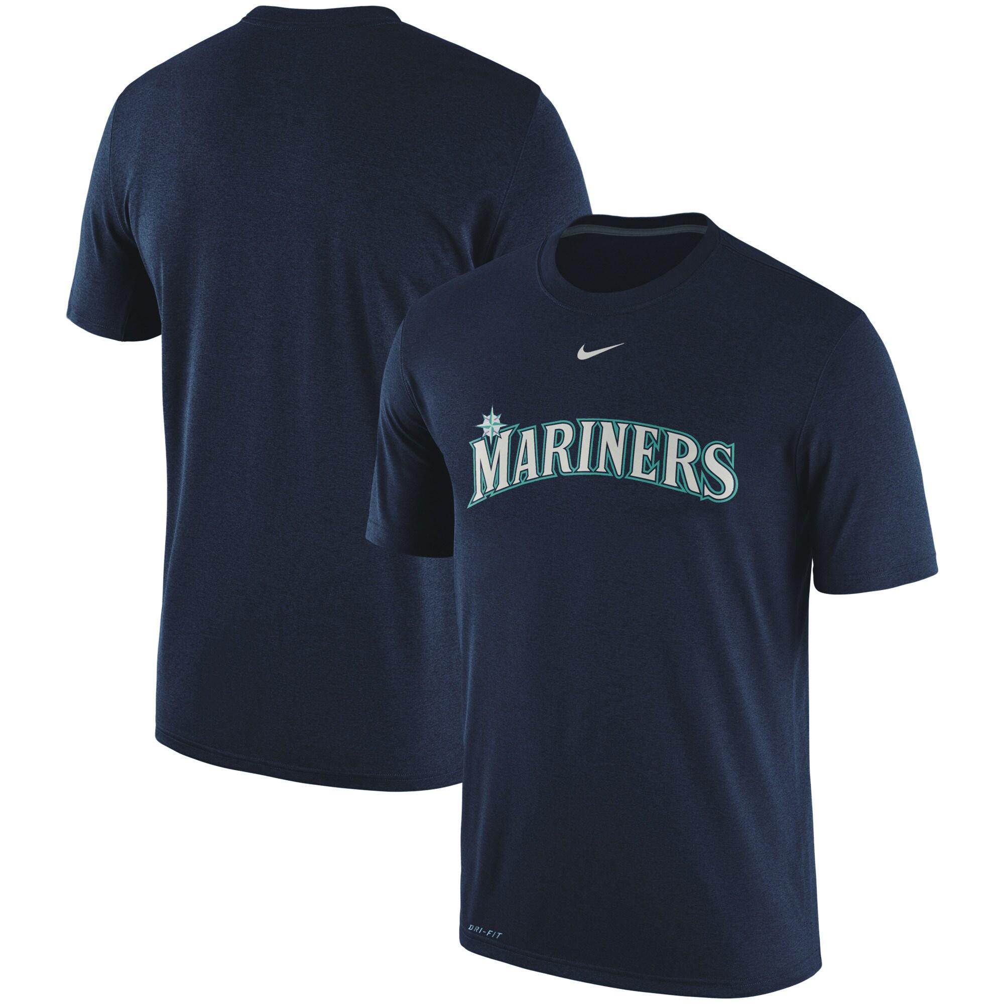 Seattle Mariners Nike Legend Primary Logo Performance T-Shirt - Navy