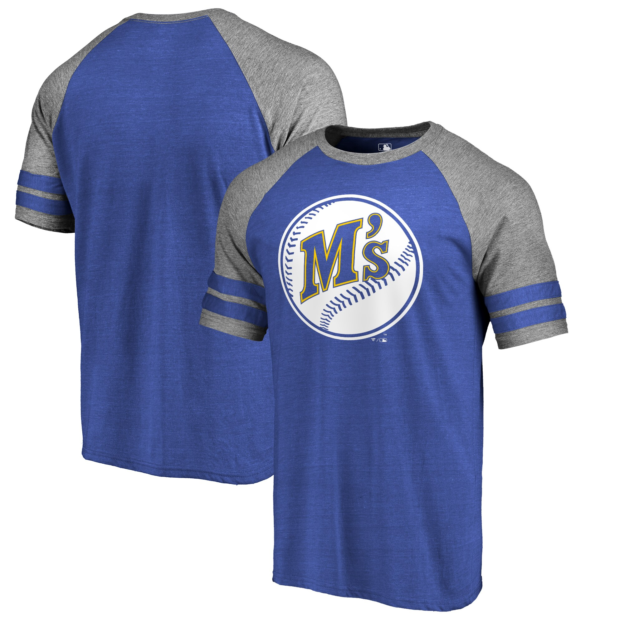 Seattle Mariners Fanatics Branded Huntington Cooperstown Collection Tri-Blend T-Shirt - Royal
