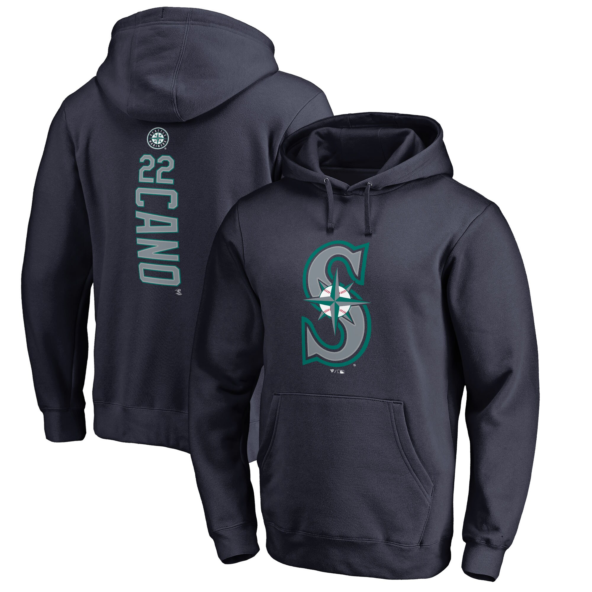 Robinson Cano Seattle Mariners Fanatics Branded Backer Pullover Hoodie - Navy