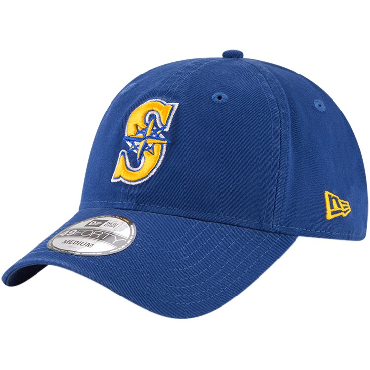 Seattle Mariners New Era Core Fit Replica 49FORTY Fitted Hat - Royal