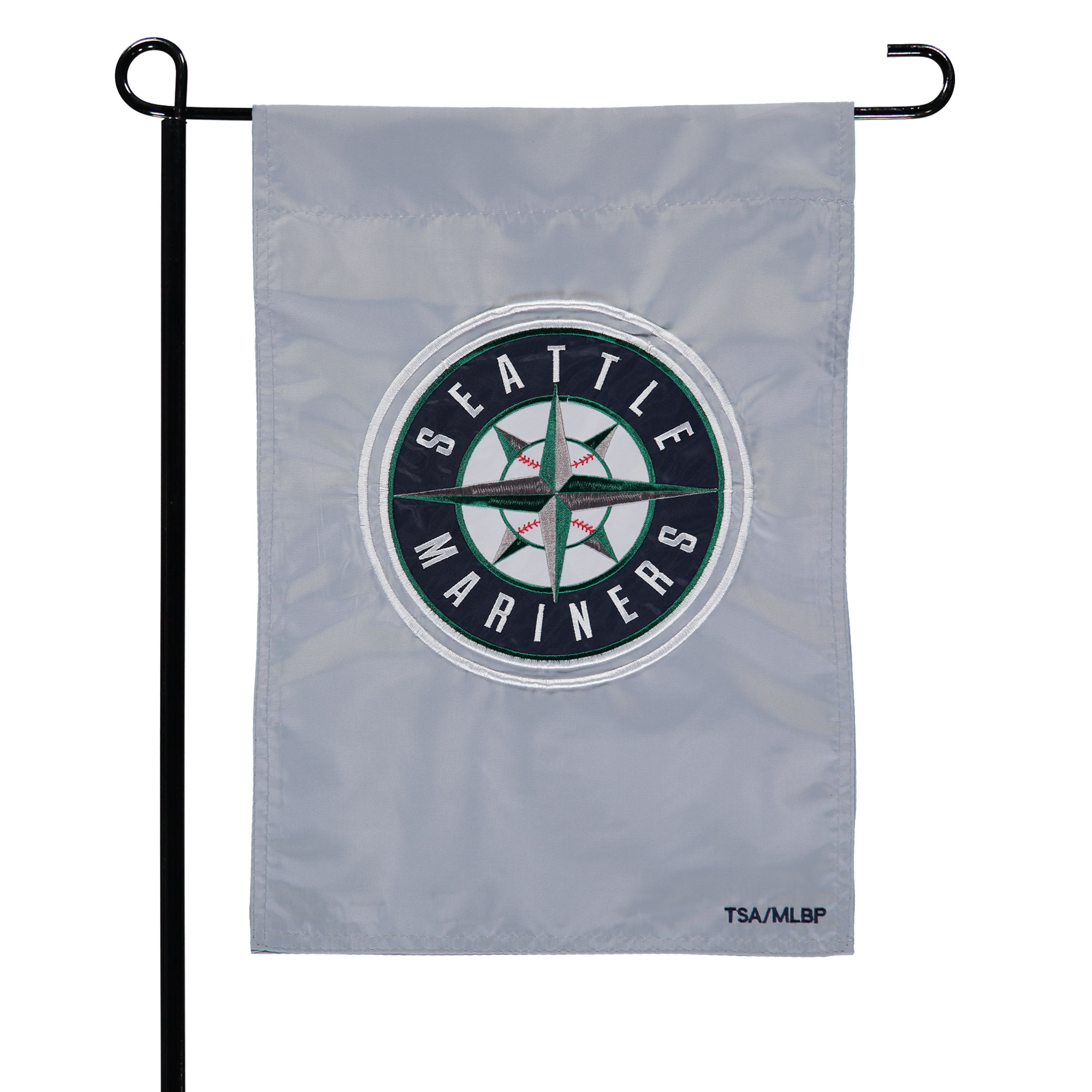"""Seattle Mariners 12.5"""" x 19"""" Applique Double-Sided Garden Flag"""