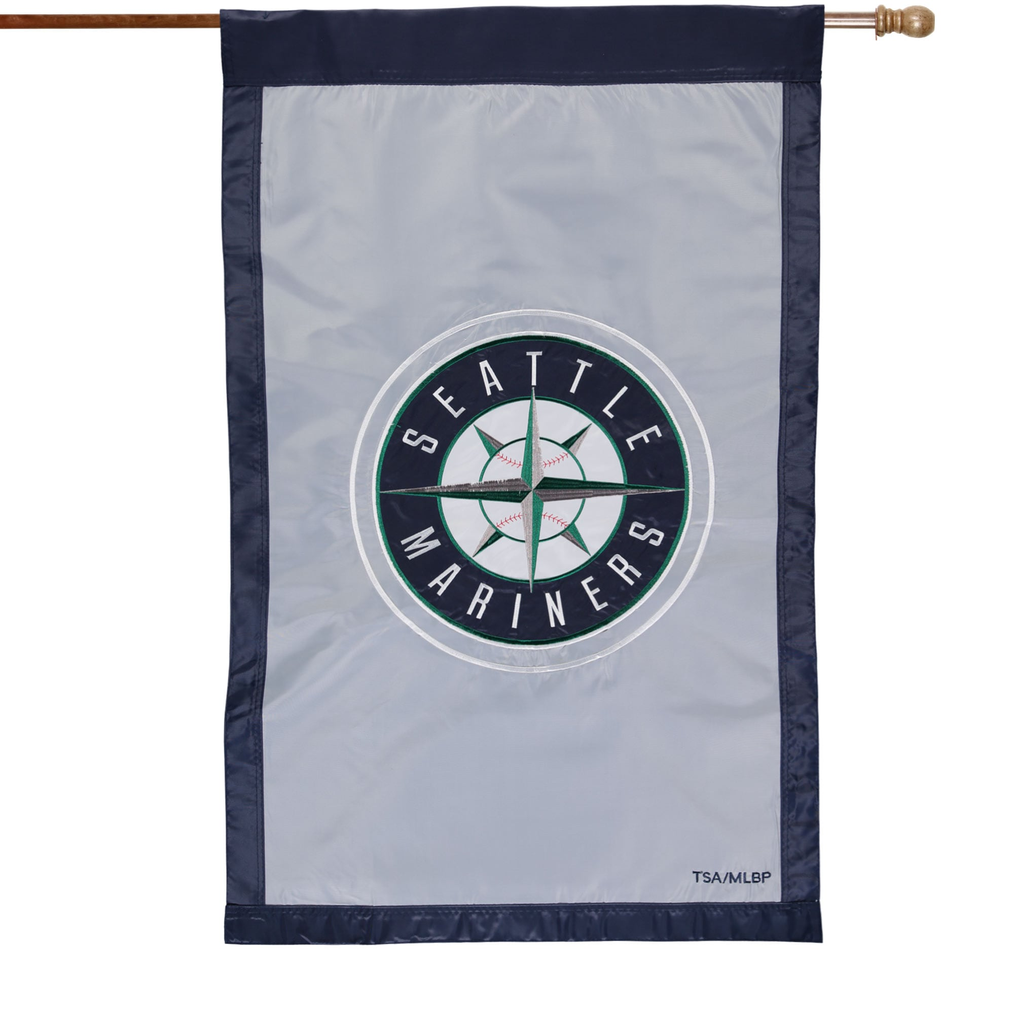 """Seattle Mariners 28"""" x 44"""" Applique Double-Sided House Flag"""