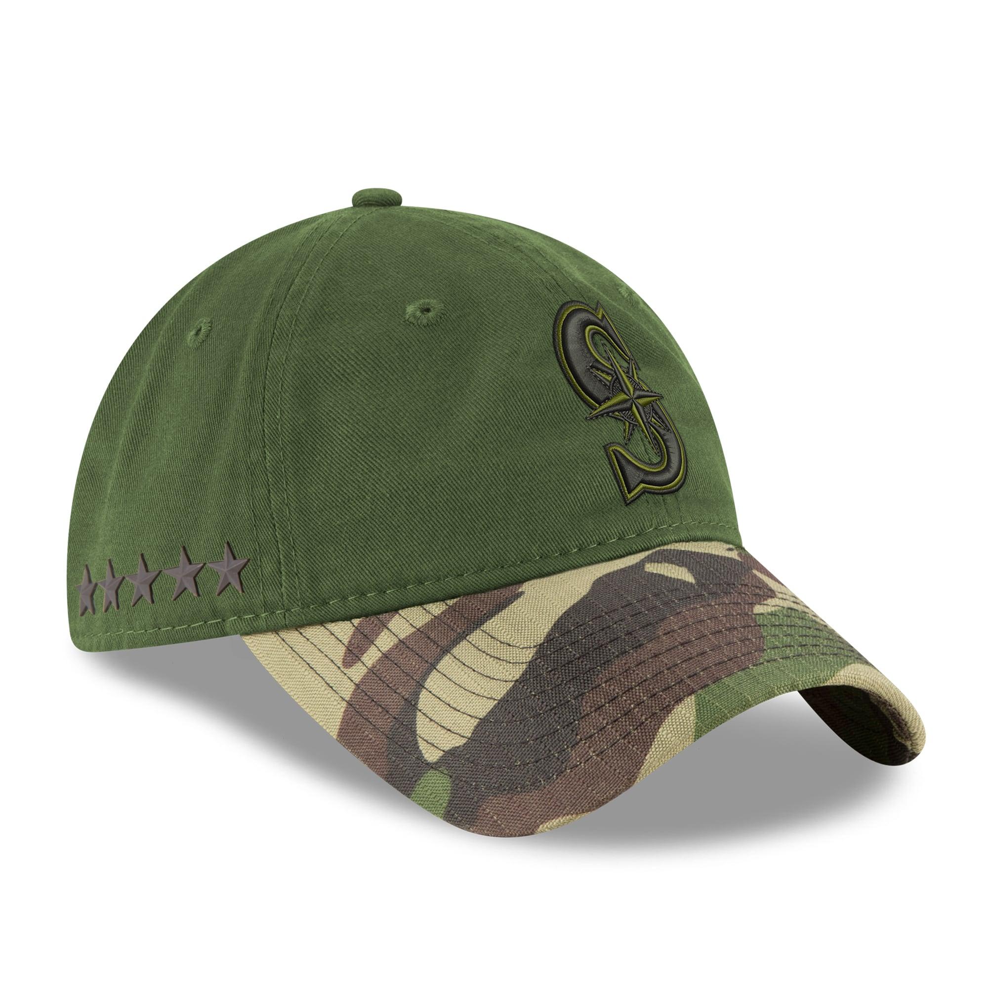 Seattle Mariners New Era 2017 Memorial Day 9TWENTY Adjustable Hat - Green/Camo