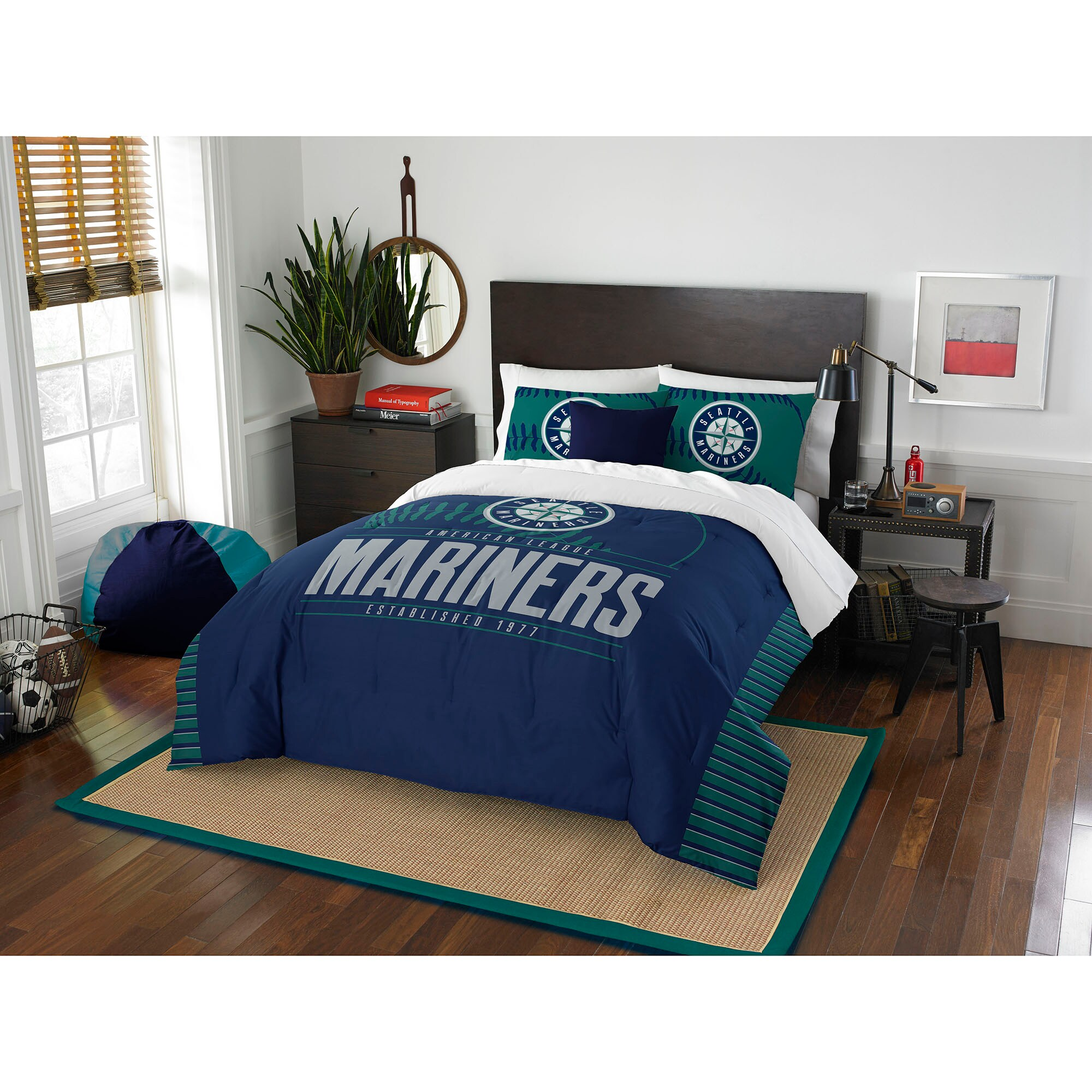 Seattle Mariners The Northwest Company Grand Slam Full/Queen Comforter Set