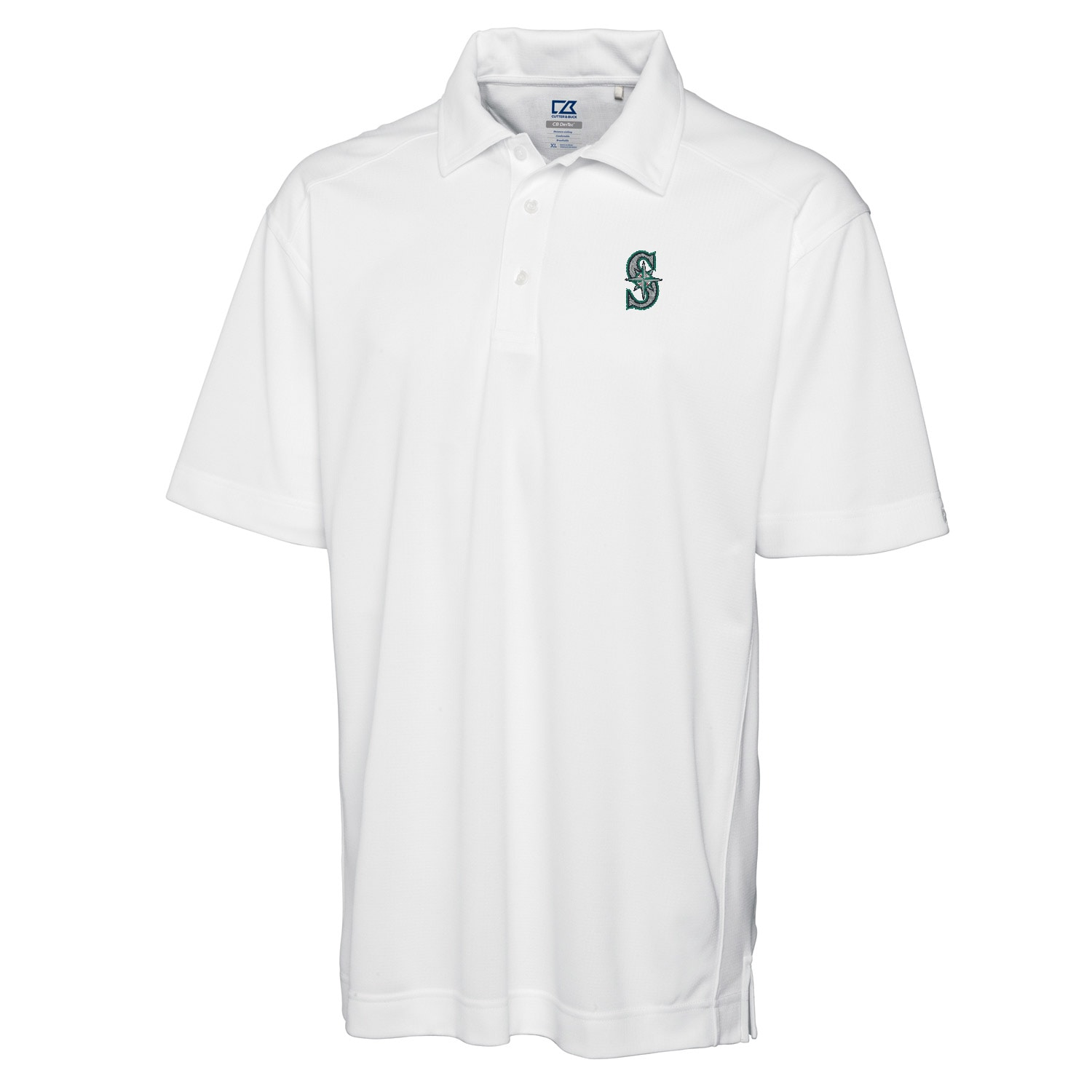 Seattle Mariners Cutter & Buck Big & Tall DryTec Genre Polo - White