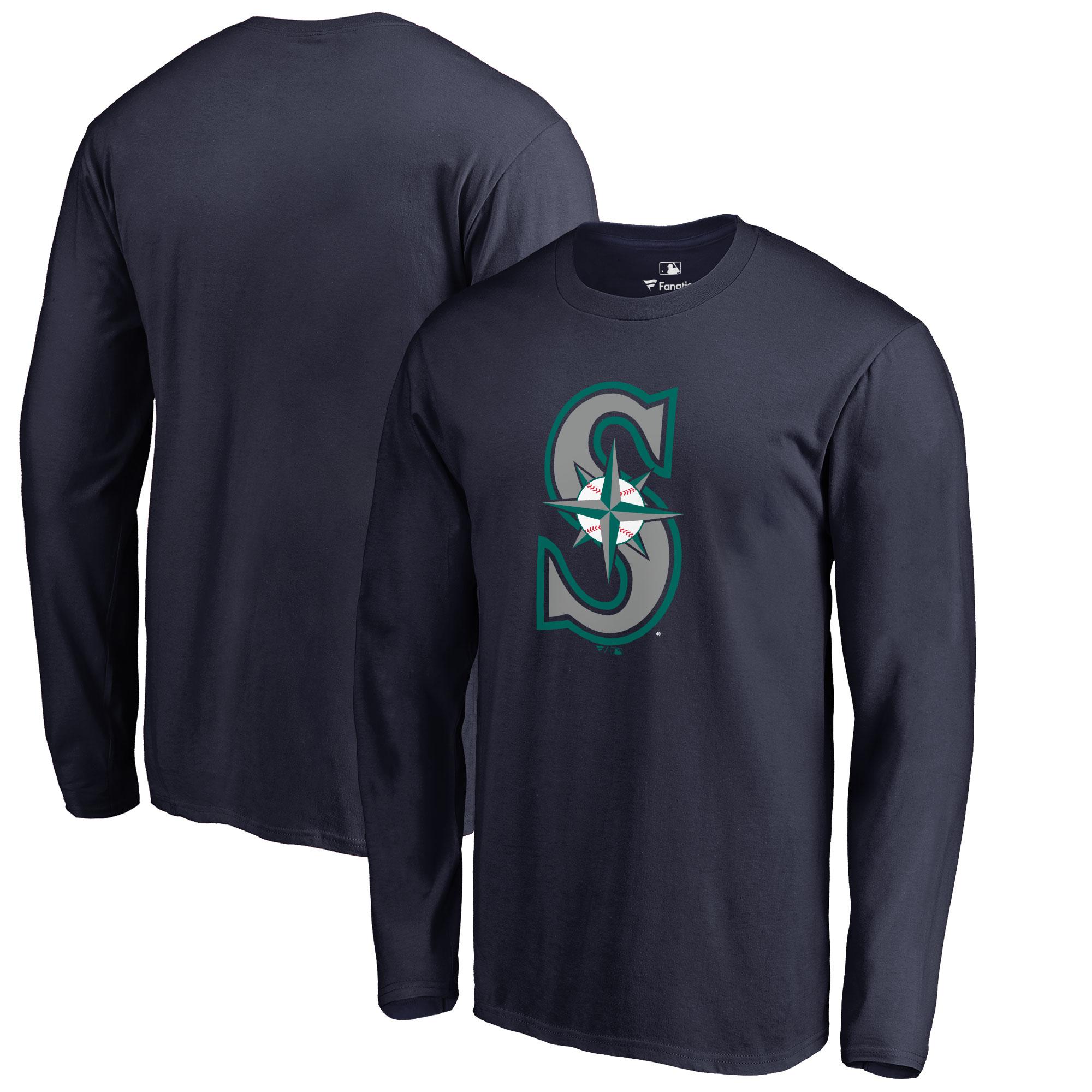 Seattle Mariners Big & Tall Primary Team Logo Long Sleeve T-Shirt - Navy