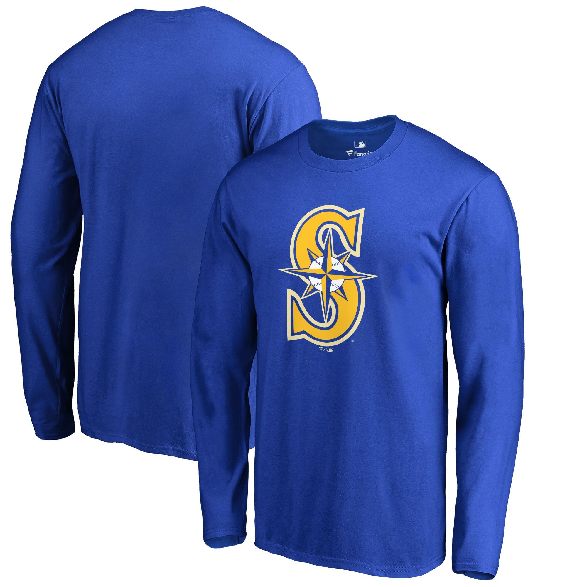 Seattle Mariners Big & Tall Primary Team Logo Long Sleeve T-Shirt - Royal